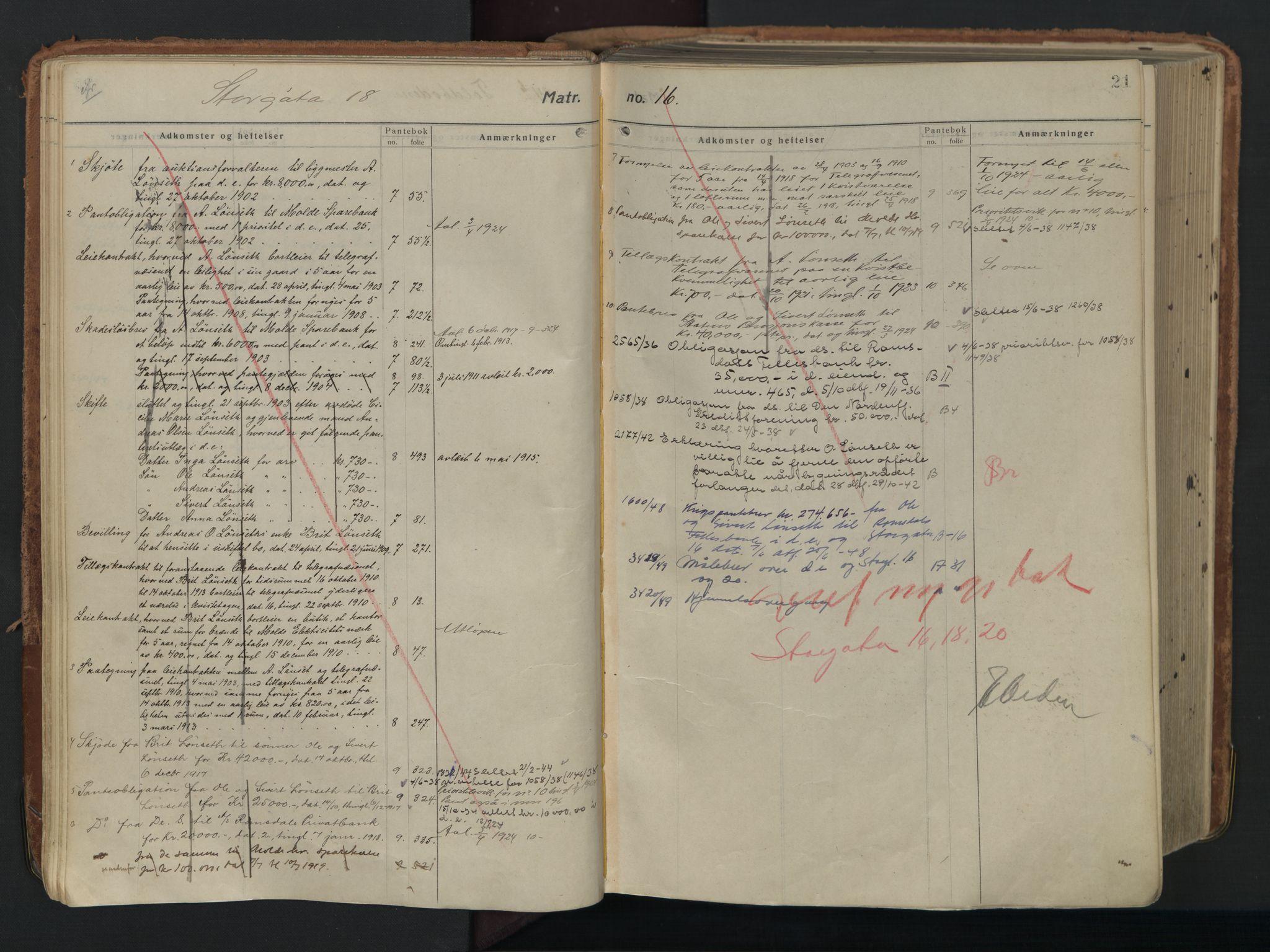 SAT, Molde byfogd, 2/2A/L0006: Panteregister nr. 6, 1835-1835, s. 21