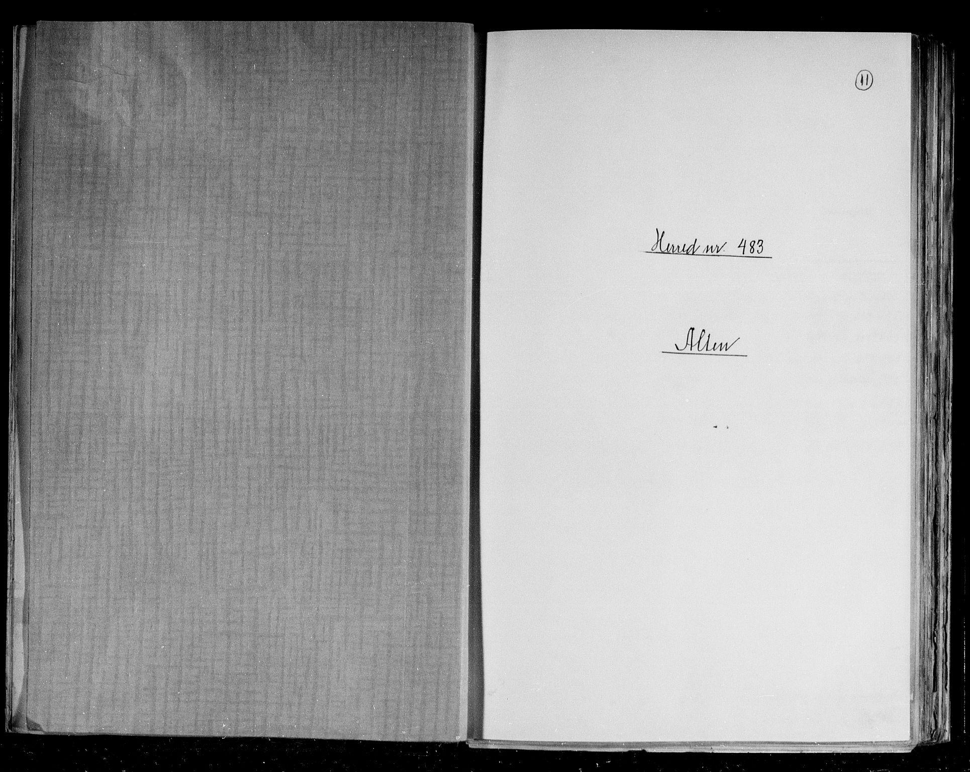 RA, Folketelling 1891 for 2012 Alta herred, 1891, s. 1