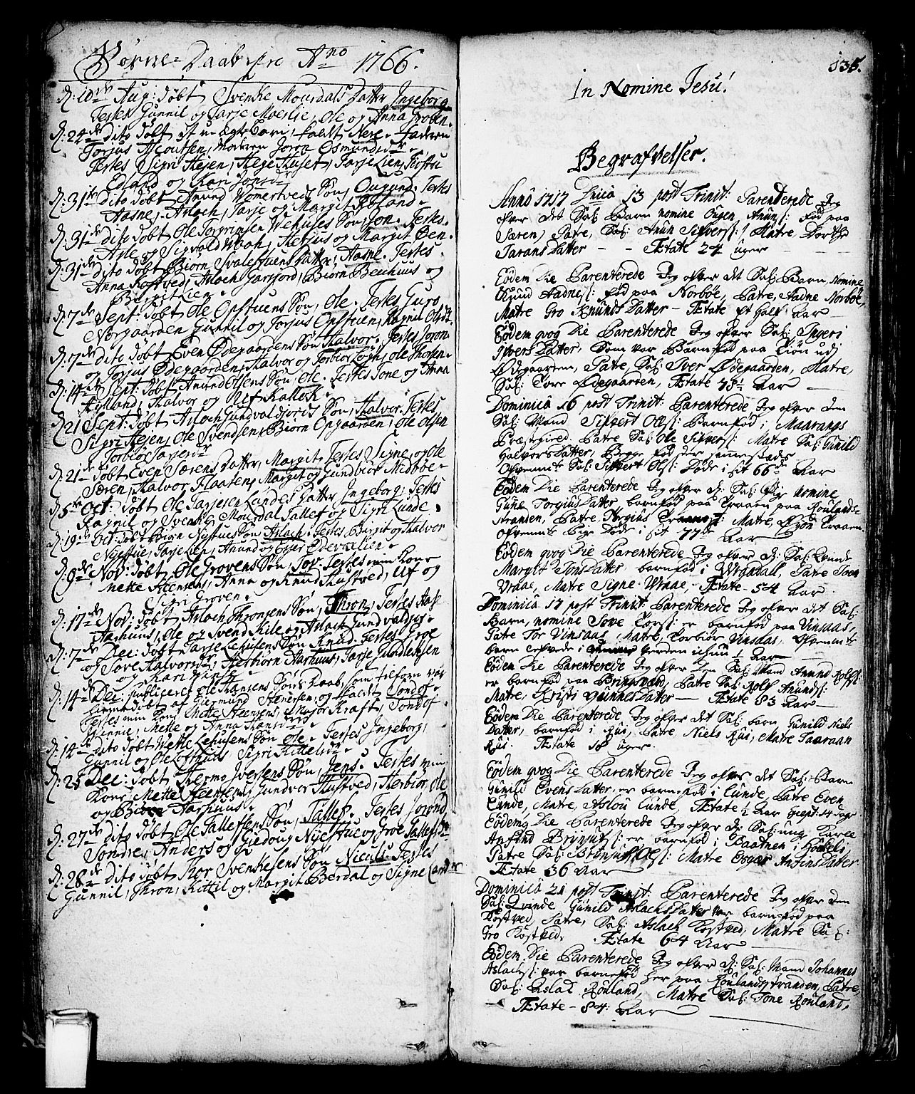 SAKO, Vinje kirkebøker, F/Fa/L0001: Ministerialbok nr. I 1, 1717-1766, s. 135