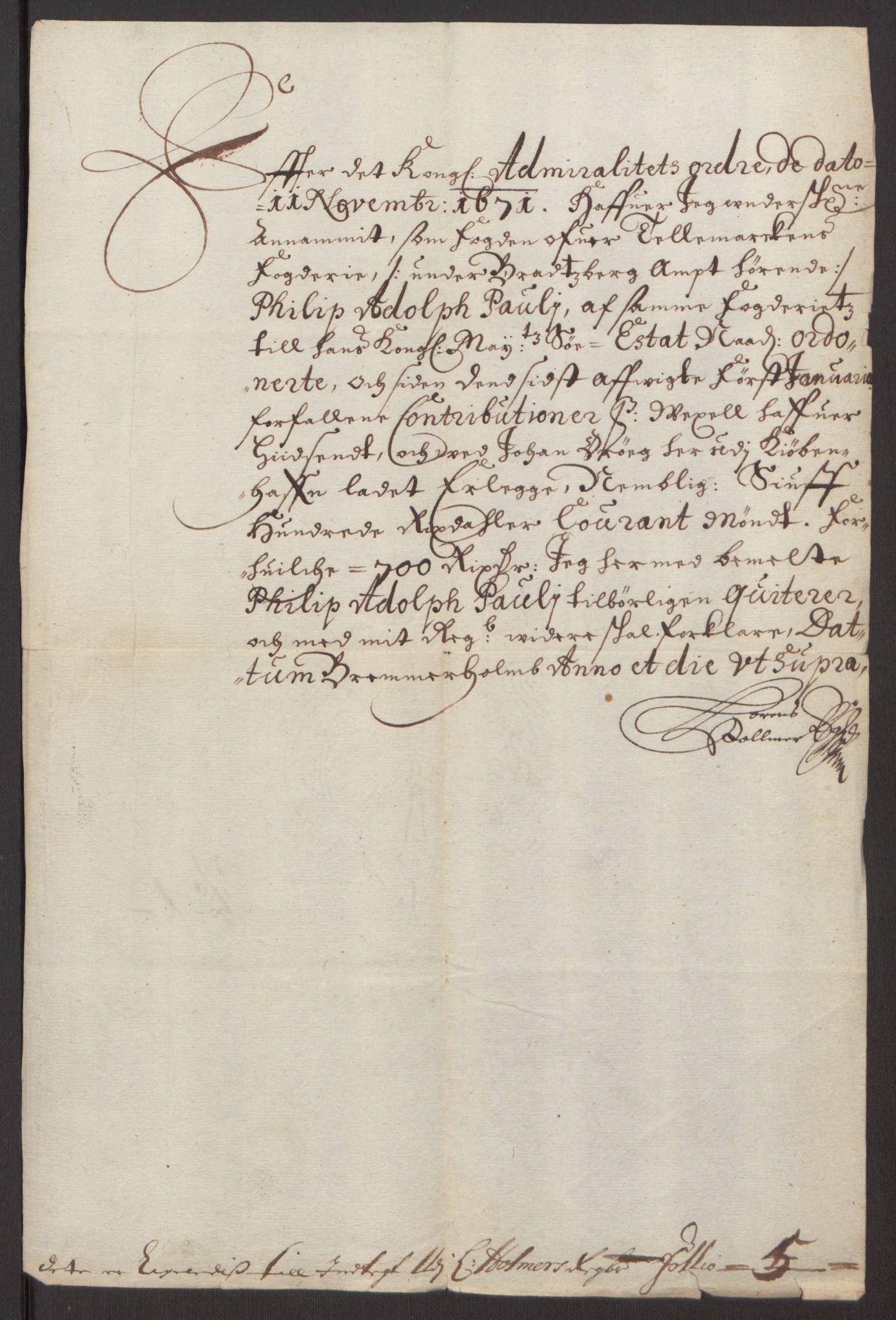 RA, Rentekammeret inntil 1814, Reviderte regnskaper, Fogderegnskap, R35/L2060: Fogderegnskap Øvre og Nedre Telemark, 1671-1672, s. 128