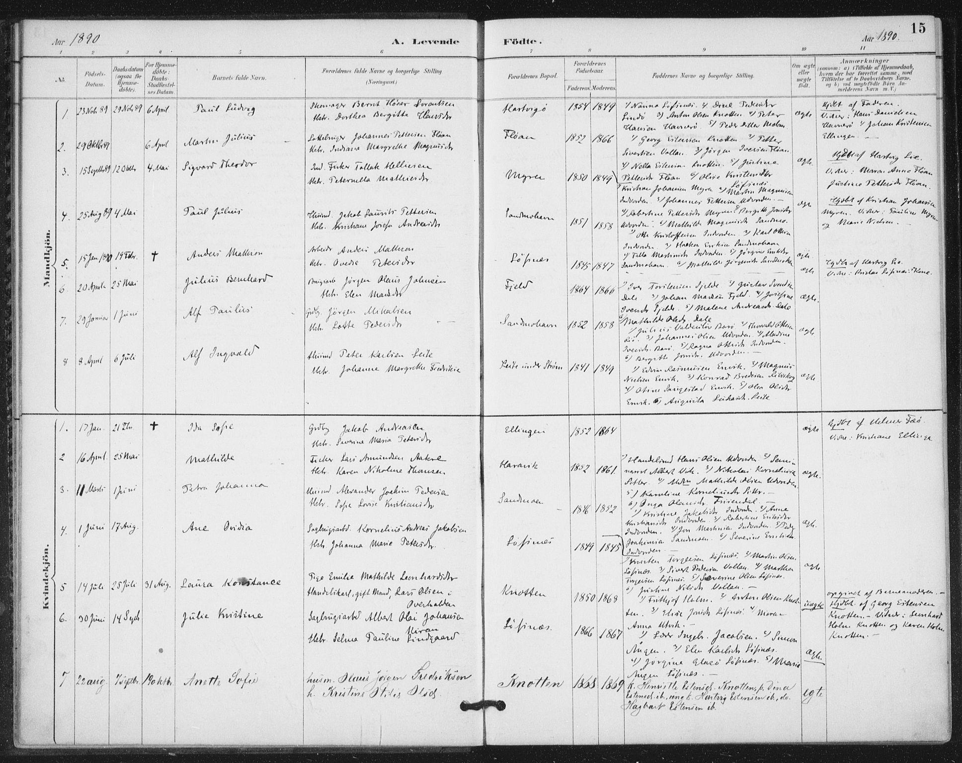 SAT, Ministerialprotokoller, klokkerbøker og fødselsregistre - Nord-Trøndelag, 772/L0603: Ministerialbok nr. 772A01, 1885-1912, s. 15