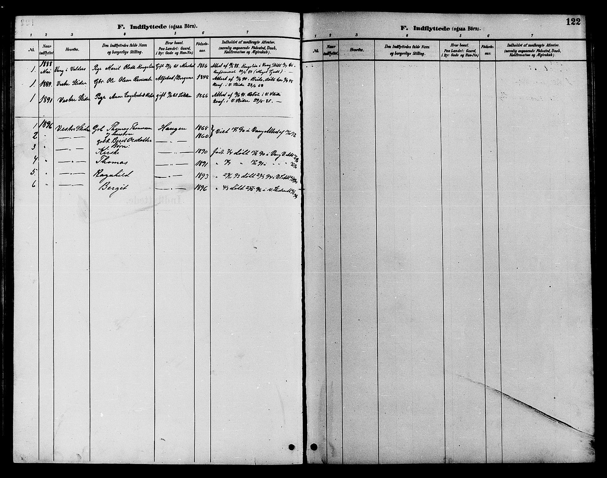 SAH, Øystre Slidre prestekontor, Klokkerbok nr. 4, 1887-1907, s. 122