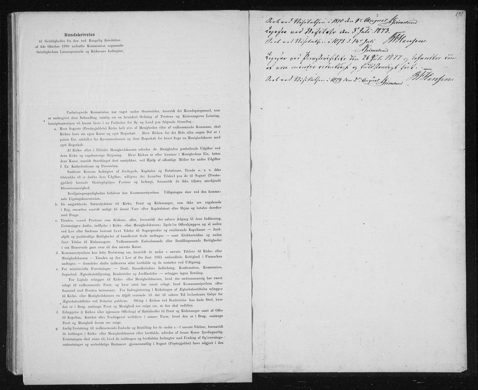 SAT, Ministerialprotokoller, klokkerbøker og fødselsregistre - Sør-Trøndelag, 631/L0513: Klokkerbok nr. 631C01, 1869-1879, s. 190
