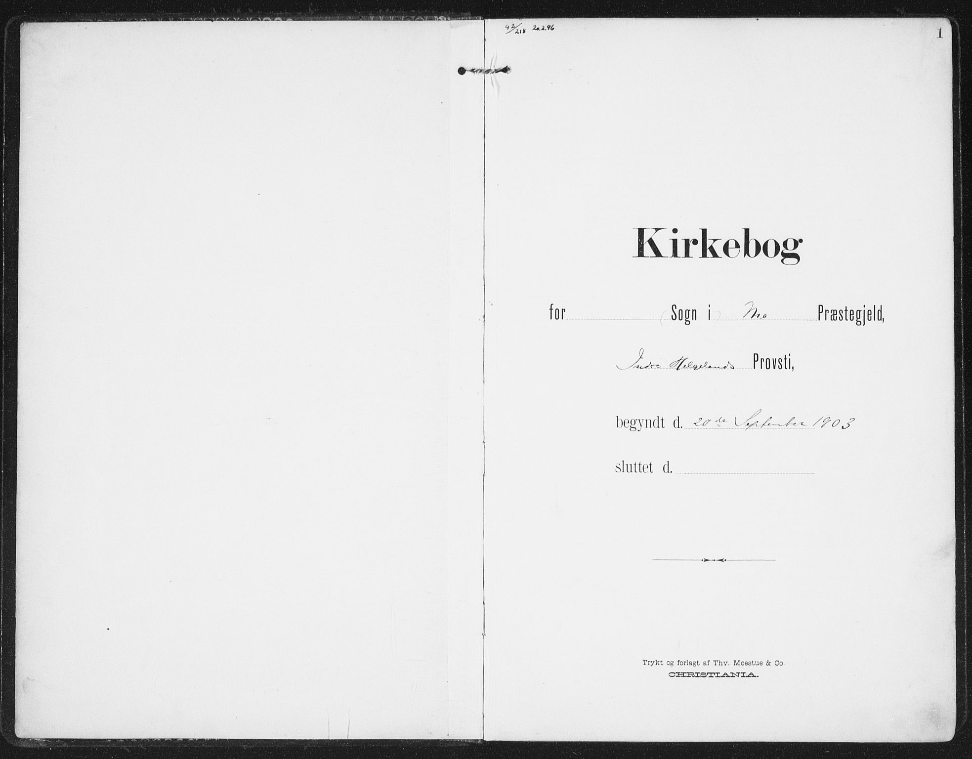 SAT, Ministerialprotokoller, klokkerbøker og fødselsregistre - Nordland, 827/L0402: Ministerialbok nr. 827A14, 1903-1912, s. 1
