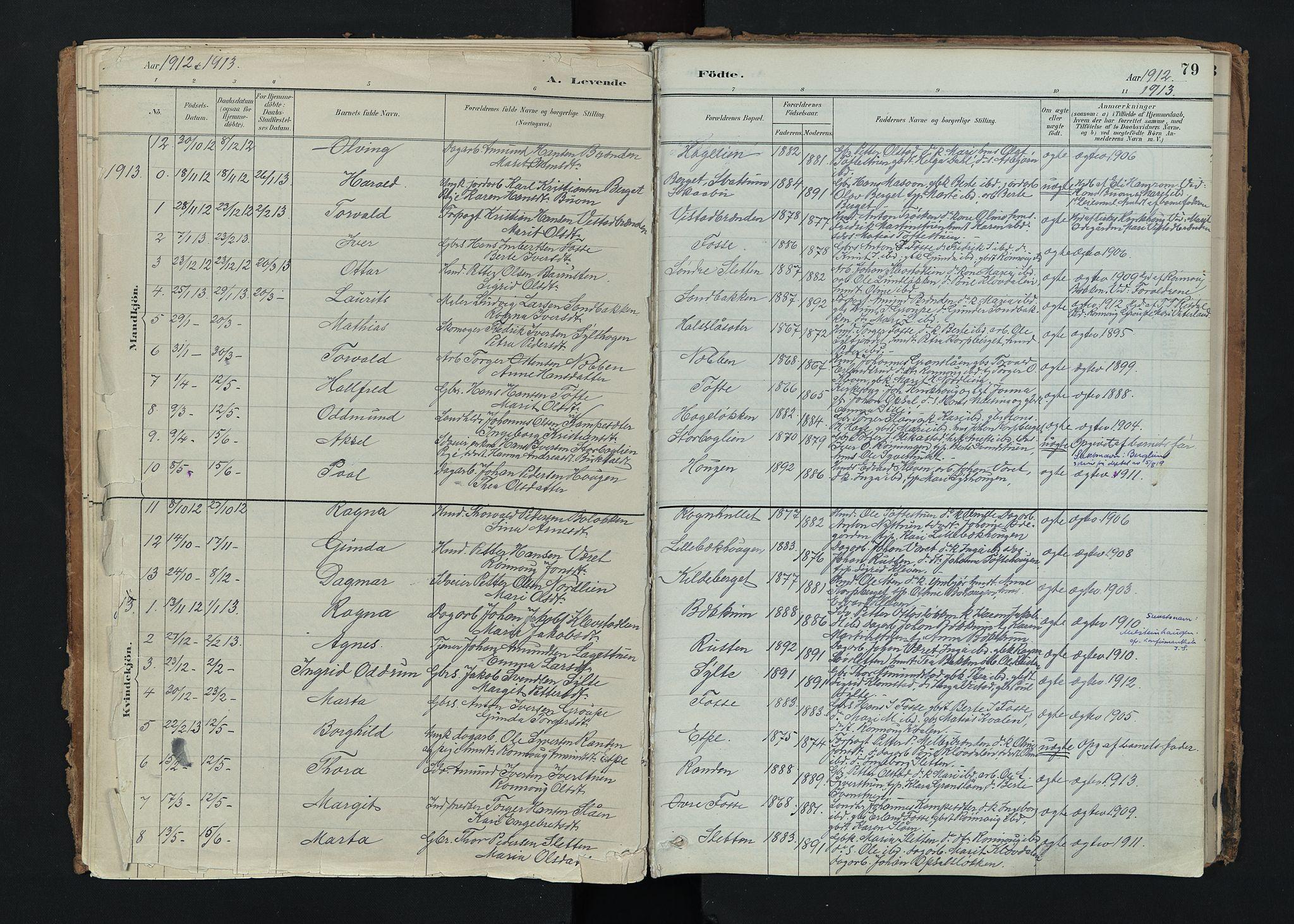 SAH, Nord-Fron prestekontor, Ministerialbok nr. 5, 1884-1914, s. 79