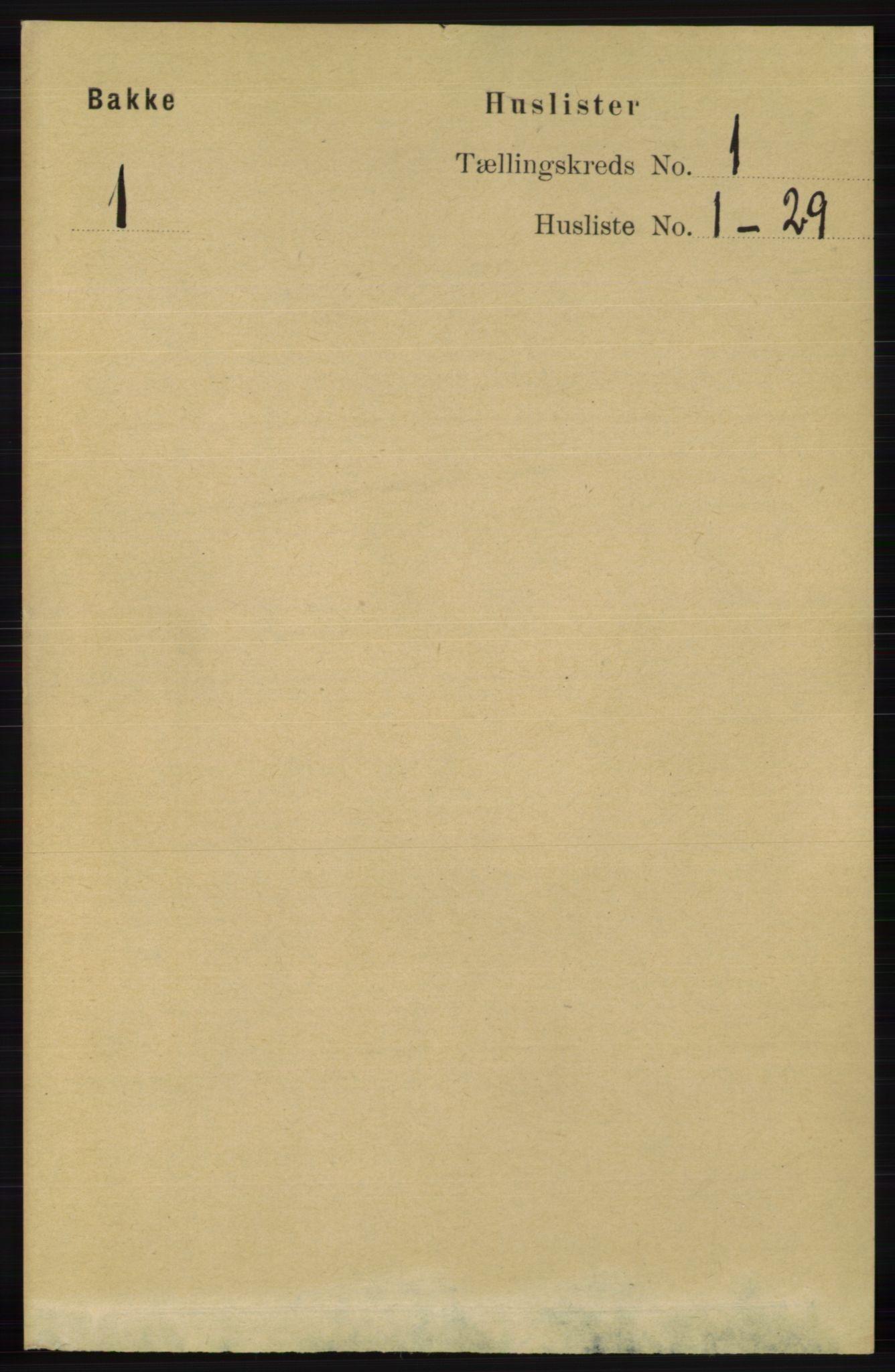 RA, Folketelling 1891 for 1045 Bakke herred, 1891, s. 34