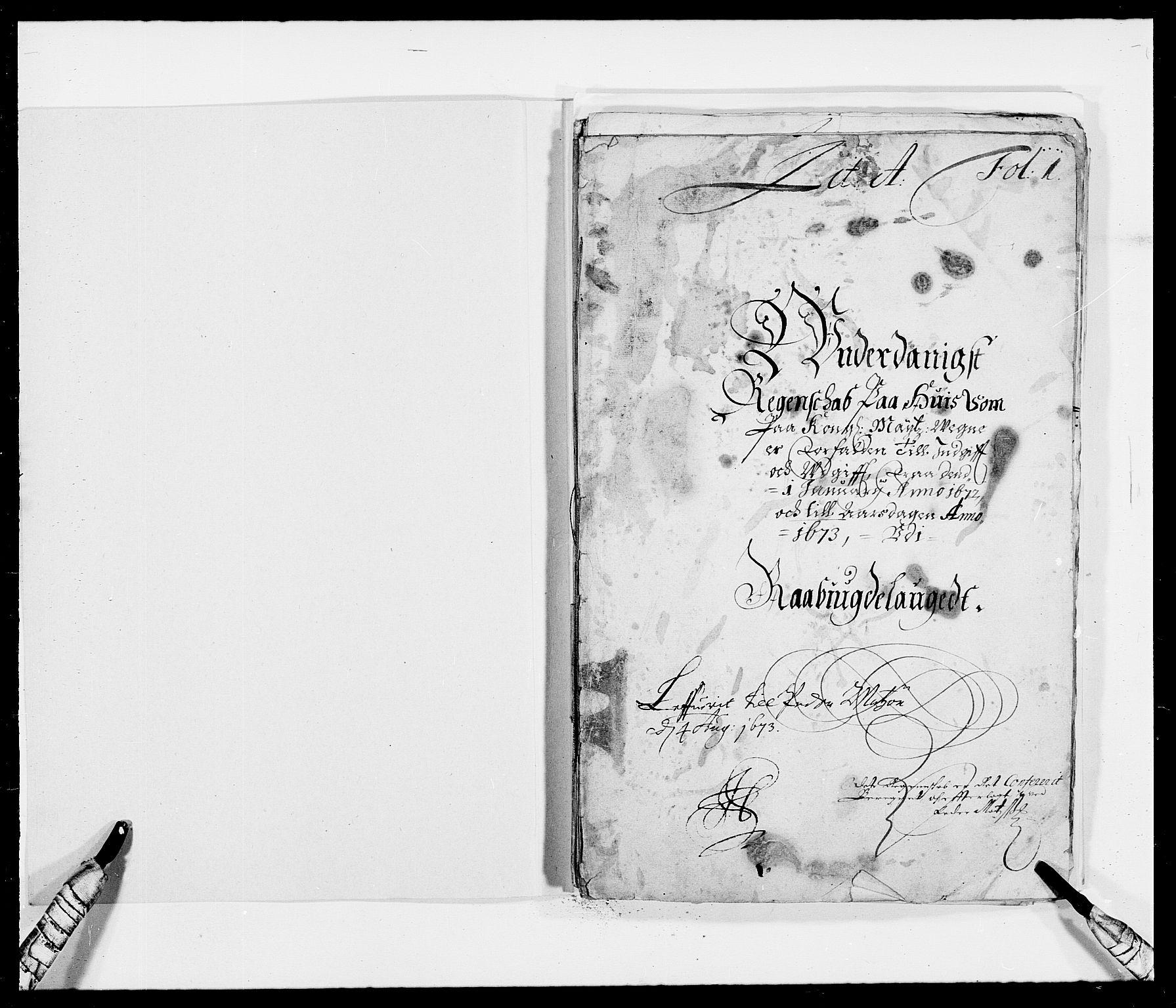 RA, Rentekammeret inntil 1814, Reviderte regnskaper, Fogderegnskap, R40/L2433: Fogderegnskap Råbyggelag, 1671-1674, s. 90