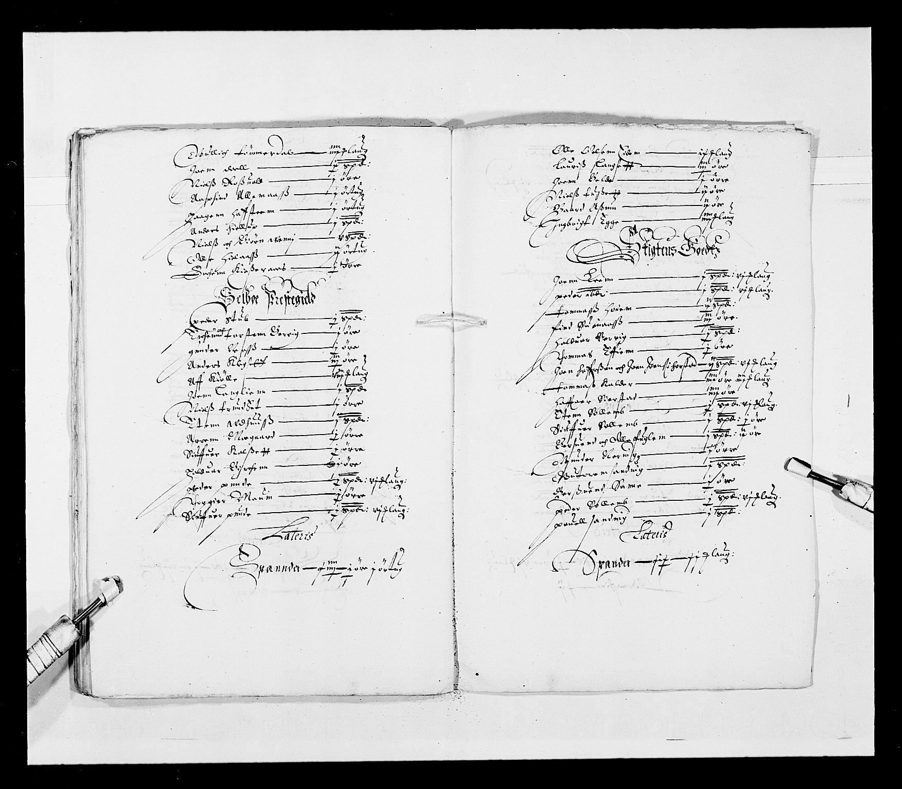 RA, Stattholderembetet 1572-1771, Ek/L0028: Jordebøker 1633-1658:, 1645-1646, s. 161