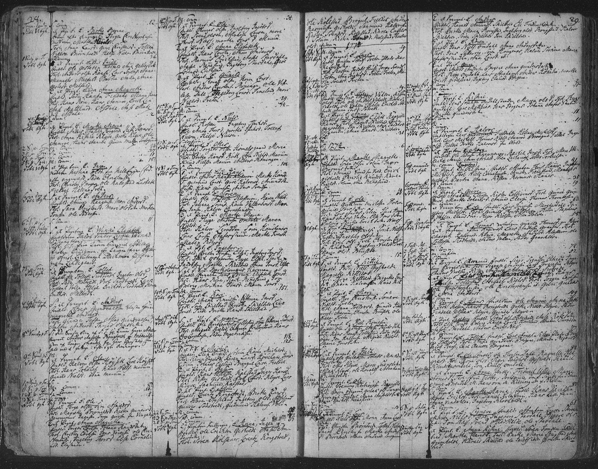 SAKO, Solum kirkebøker, F/Fa/L0003: Ministerialbok nr. I 3, 1761-1814, s. 28-29