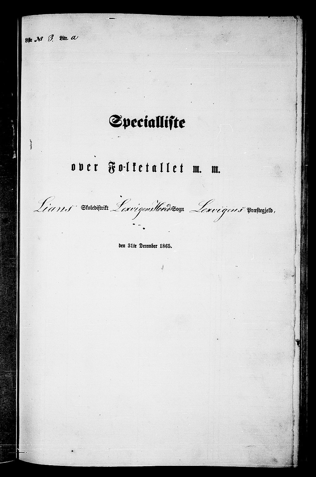 RA, Folketelling 1865 for 1718P Leksvik prestegjeld, 1865, s. 71