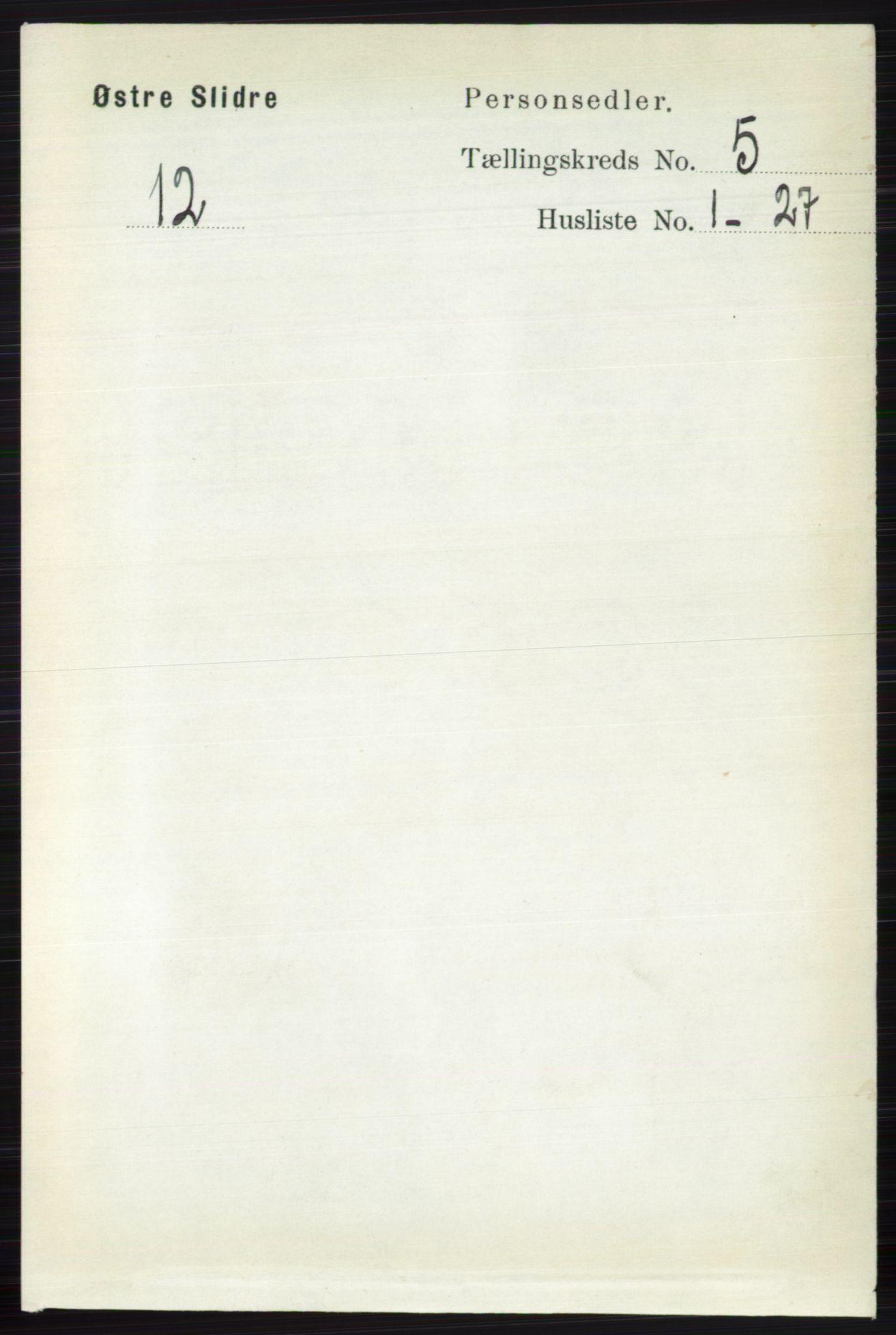 RA, Folketelling 1891 for 0544 Øystre Slidre herred, 1891, s. 1601