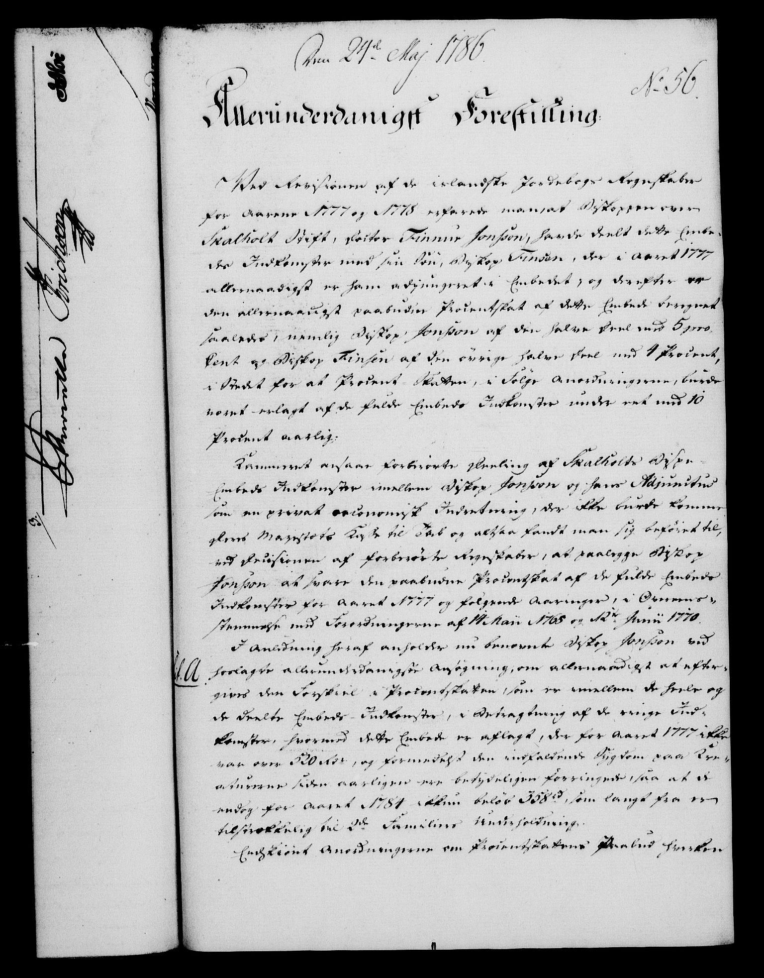 RA, Rentekammeret, Kammerkanselliet, G/Gf/Gfa/L0068: Norsk relasjons- og resolusjonsprotokoll (merket RK 52.68), 1786, s. 383