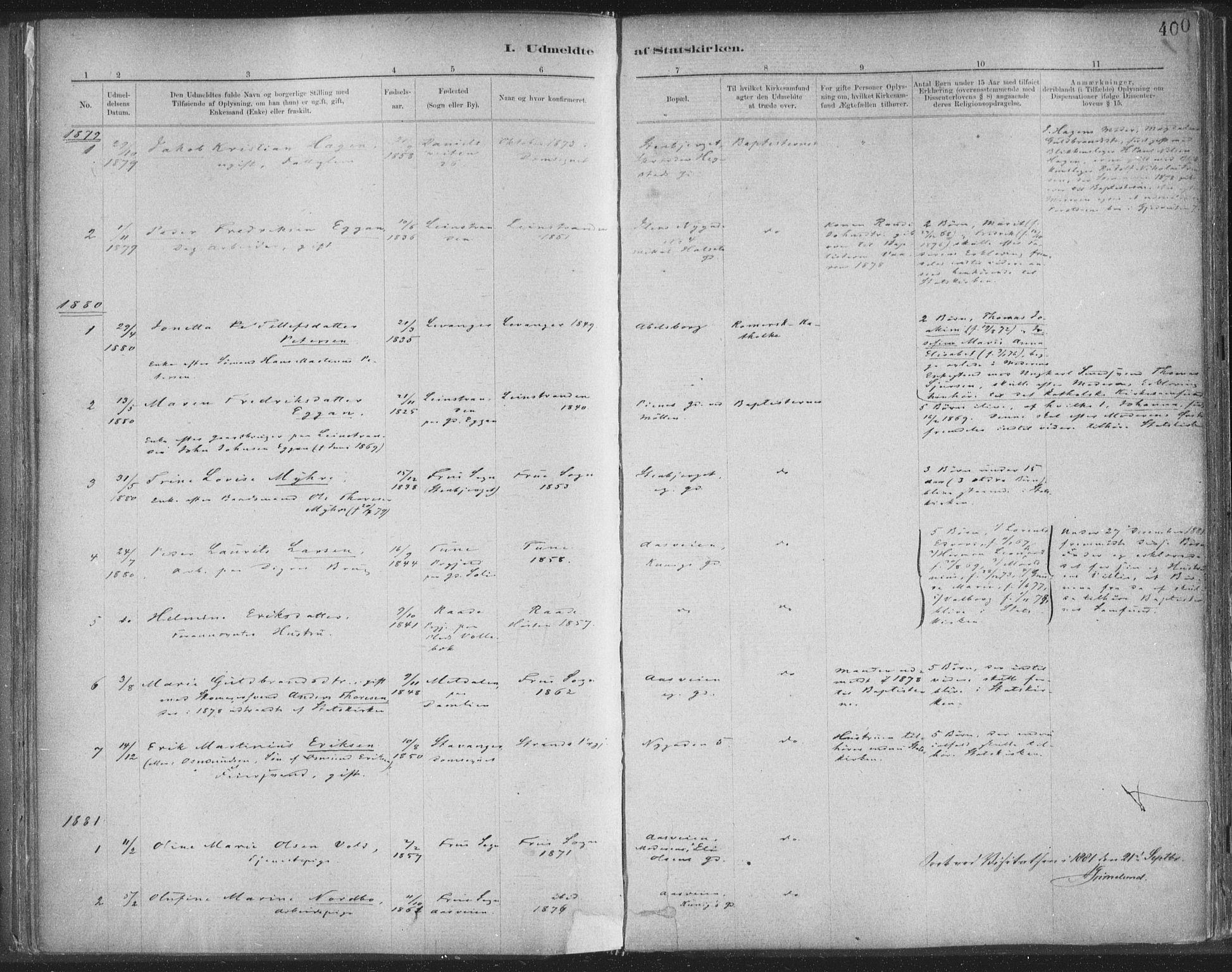 SAT, Ministerialprotokoller, klokkerbøker og fødselsregistre - Sør-Trøndelag, 603/L0163: Ministerialbok nr. 603A02, 1879-1895, s. 400