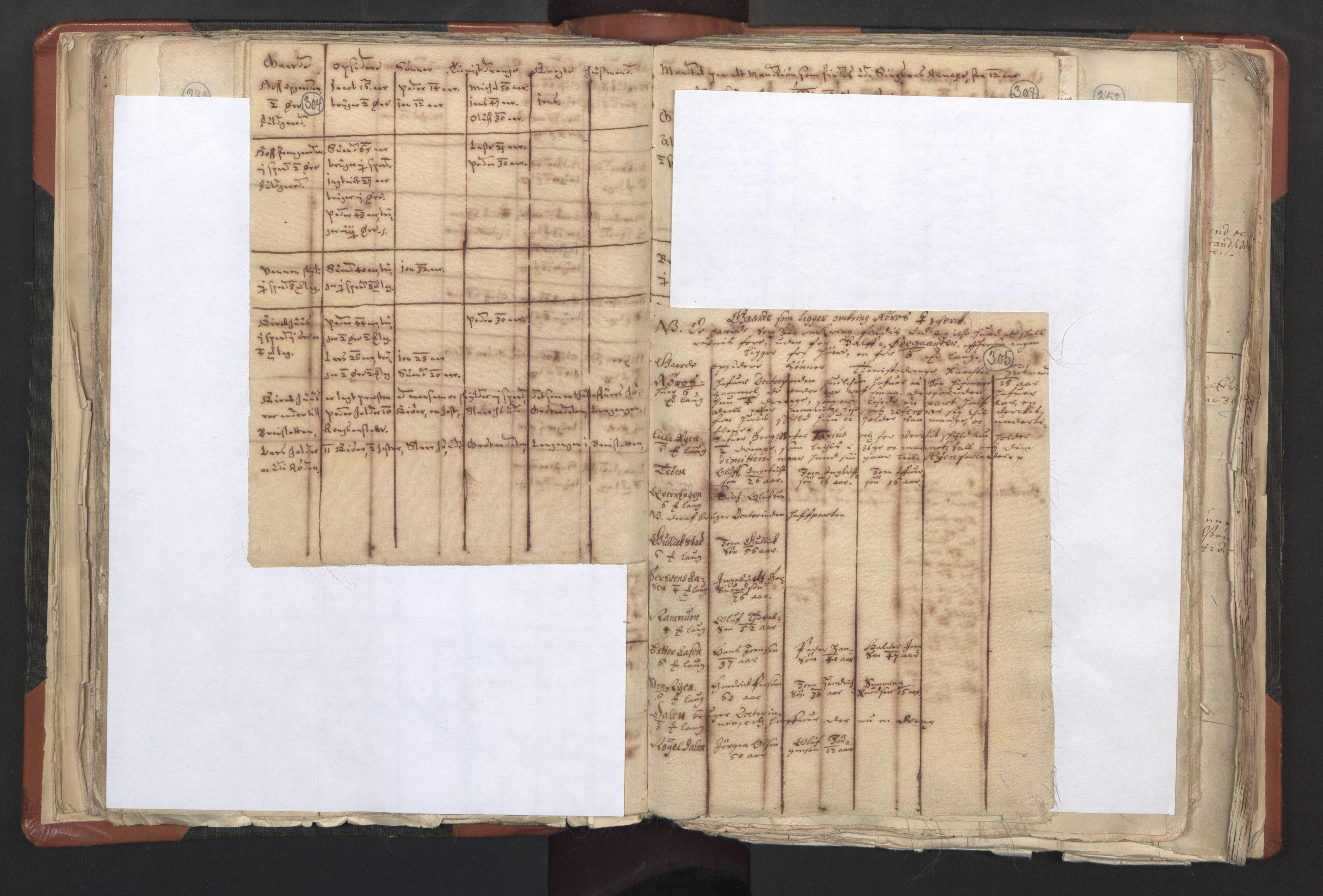 RA, Sogneprestenes manntall 1664-1666, nr. 31: Dalane prosti, 1664-1666, s. 304-305