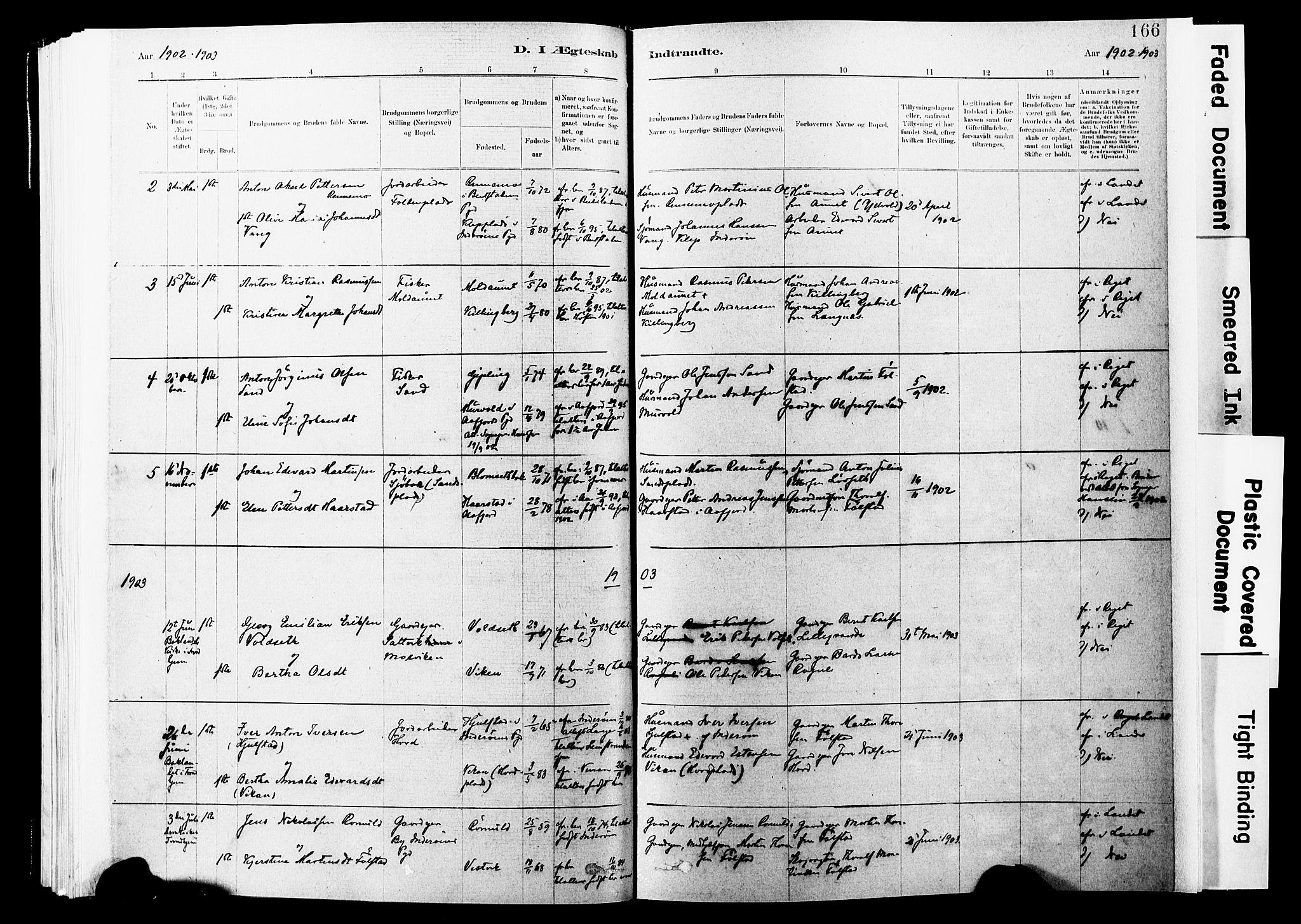 SAT, Ministerialprotokoller, klokkerbøker og fødselsregistre - Nord-Trøndelag, 744/L0420: Ministerialbok nr. 744A04, 1882-1904, s. 166