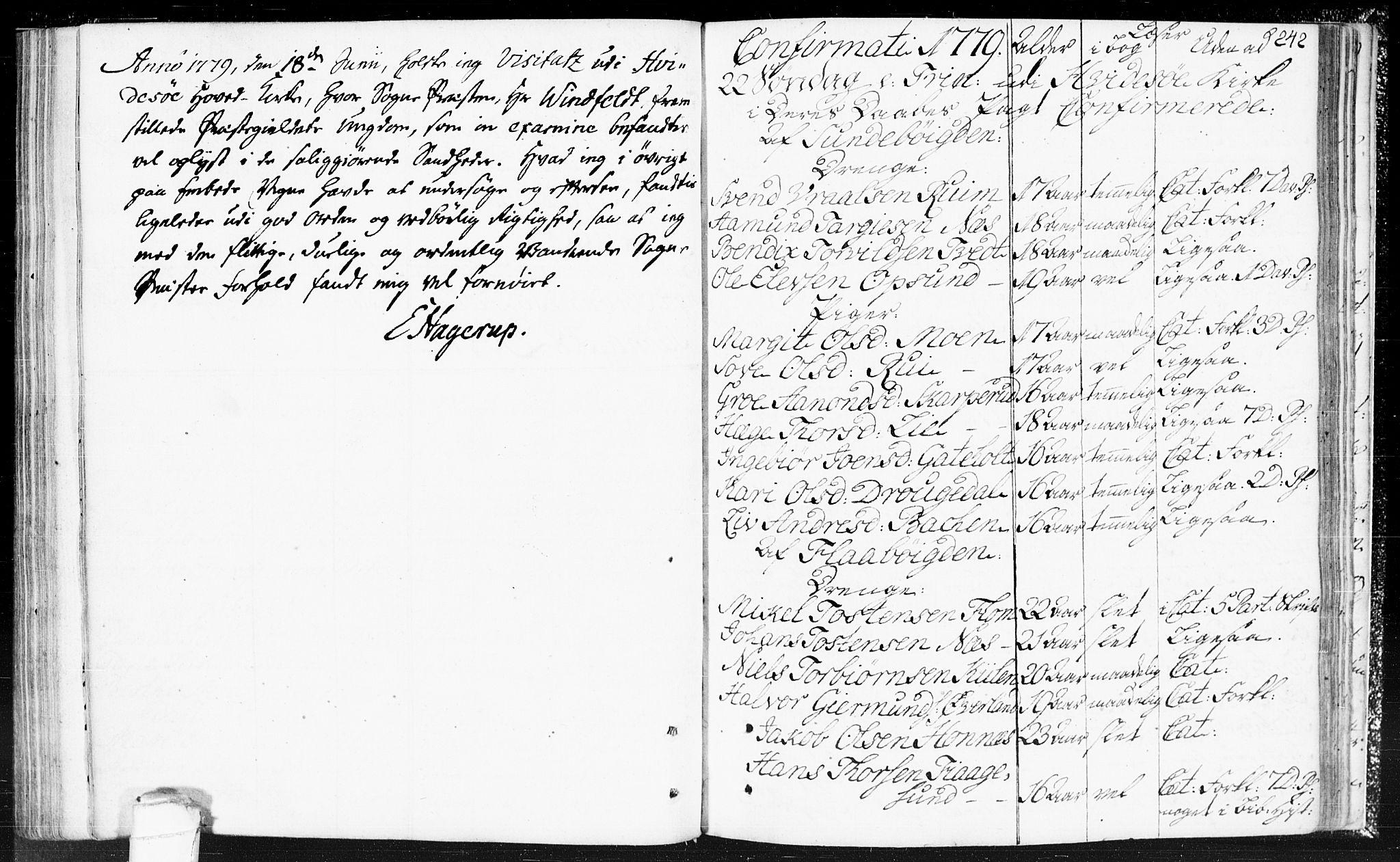 SAKO, Kviteseid kirkebøker, F/Fa/L0002: Ministerialbok nr. I 2, 1773-1786, s. 242