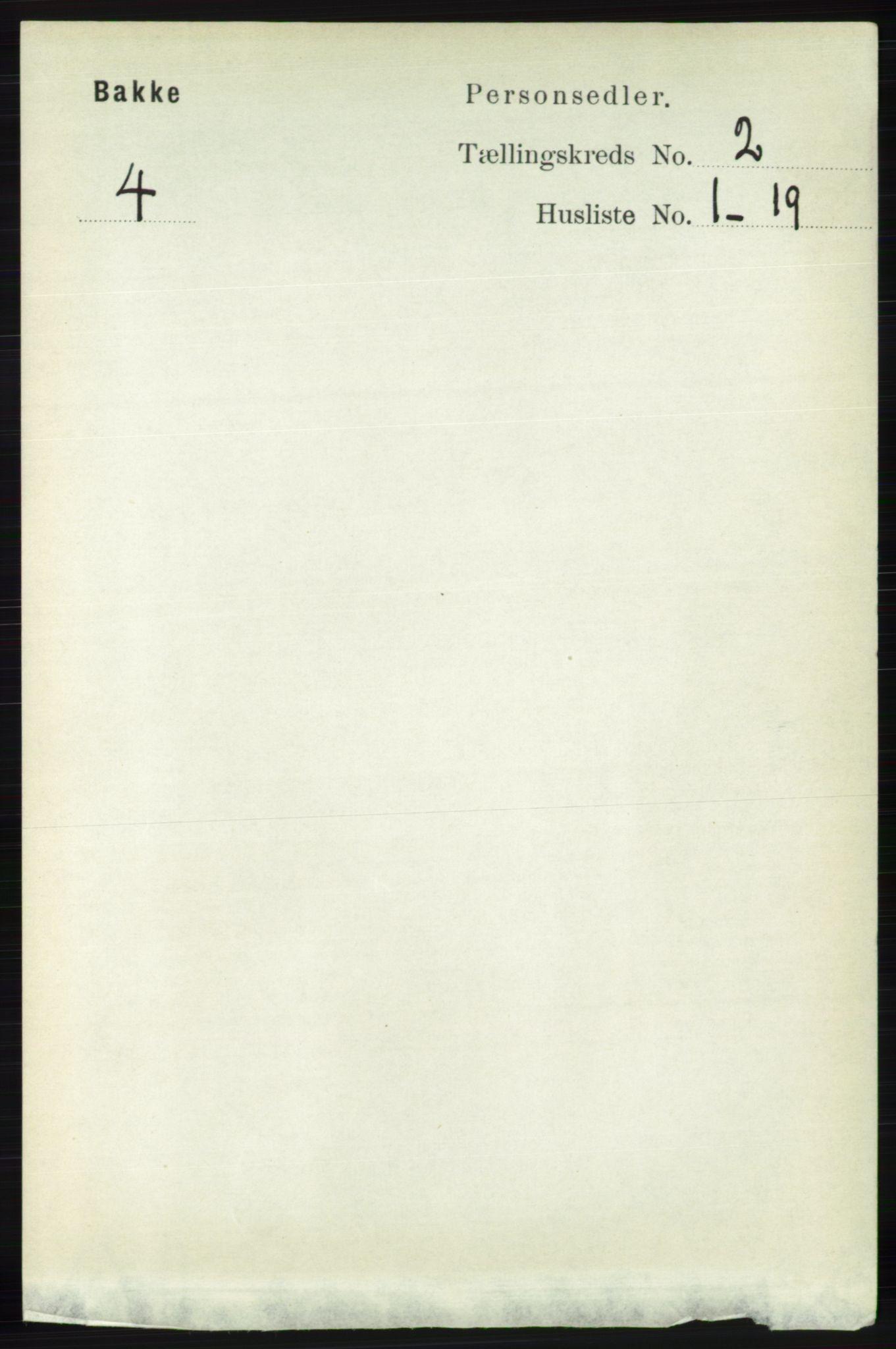 RA, Folketelling 1891 for 1045 Bakke herred, 1891, s. 282