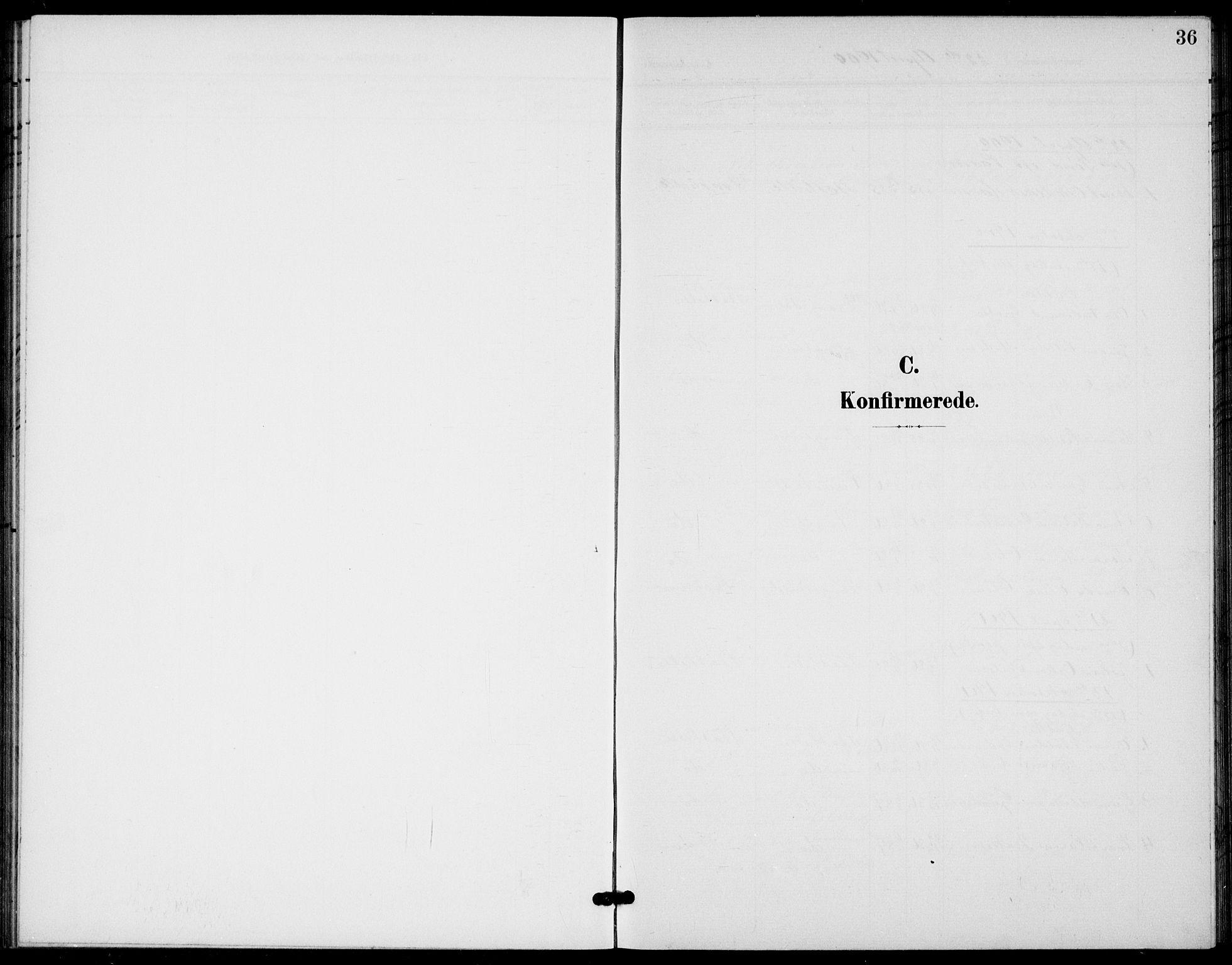 SAKO, Bamble kirkebøker, G/Gb/L0002: Klokkerbok nr. II 2, 1900-1925, s. 36