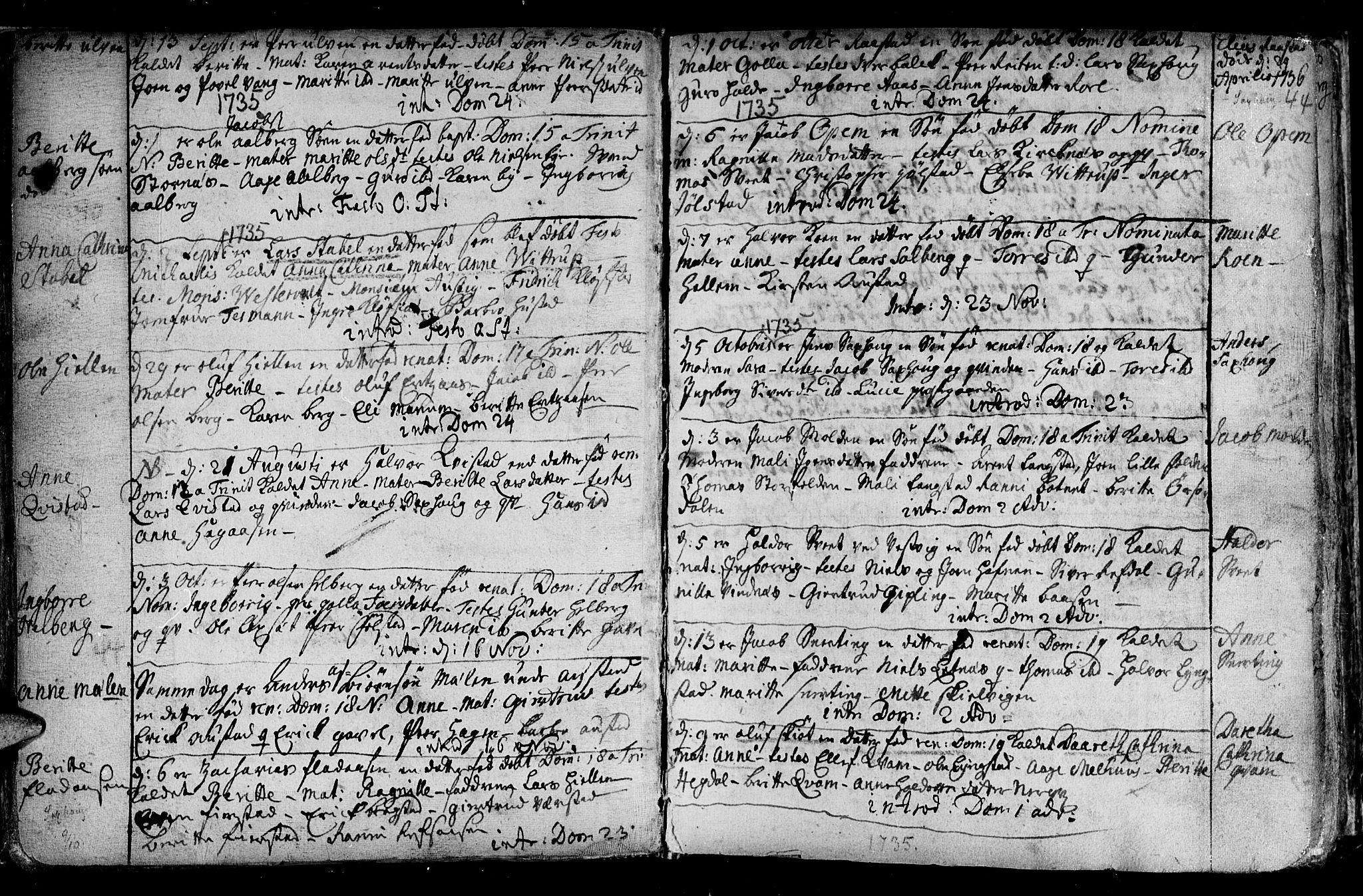 SAT, Ministerialprotokoller, klokkerbøker og fødselsregistre - Nord-Trøndelag, 730/L0272: Ministerialbok nr. 730A01, 1733-1764, s. 44