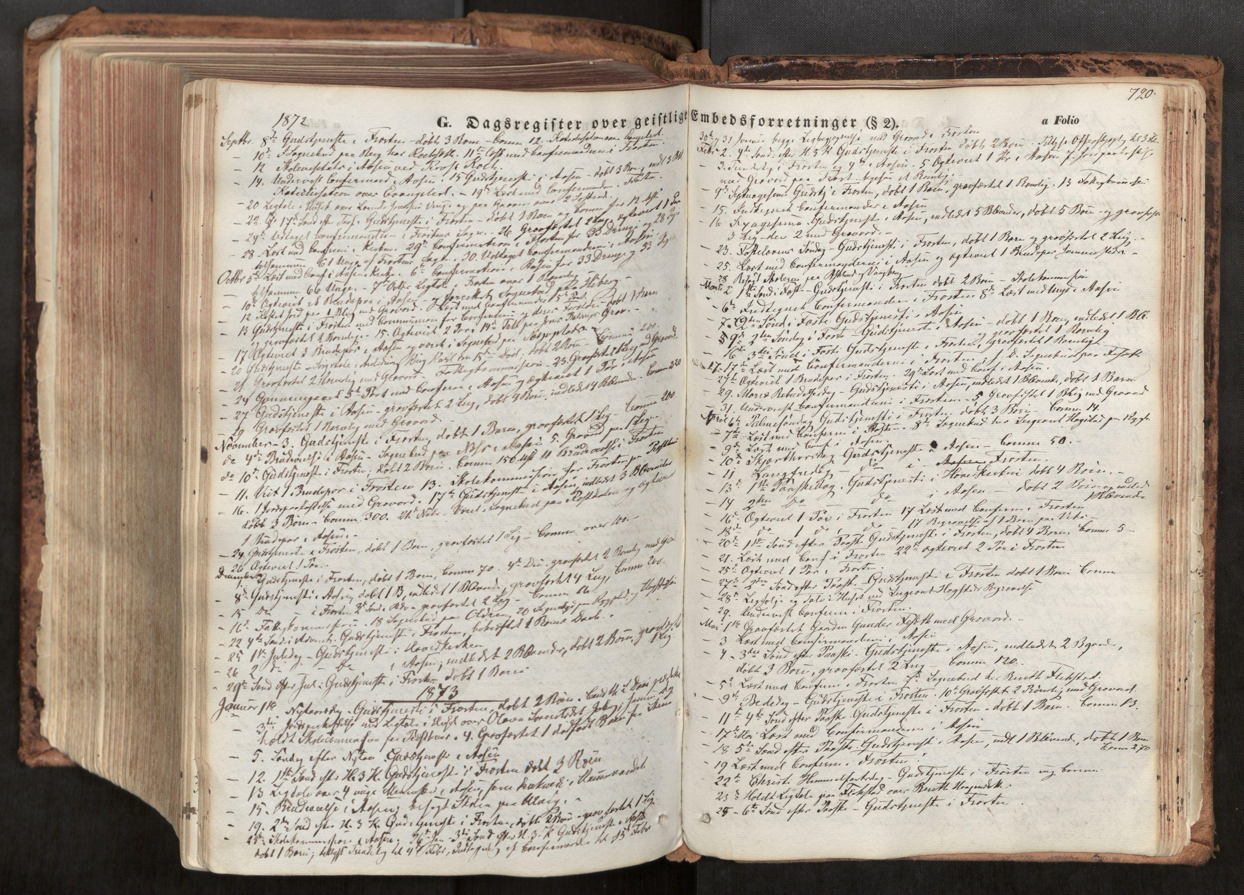 SAT, Ministerialprotokoller, klokkerbøker og fødselsregistre - Nord-Trøndelag, 713/L0116: Ministerialbok nr. 713A07, 1850-1877, s. 720