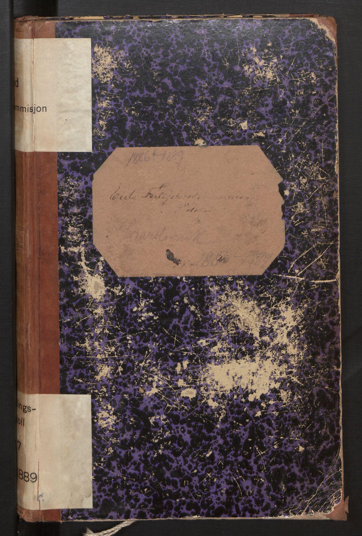 SAB, Eid (og Davik) forliksråd, A/L0007: Forhandlingsprotokoll, 1886-1889