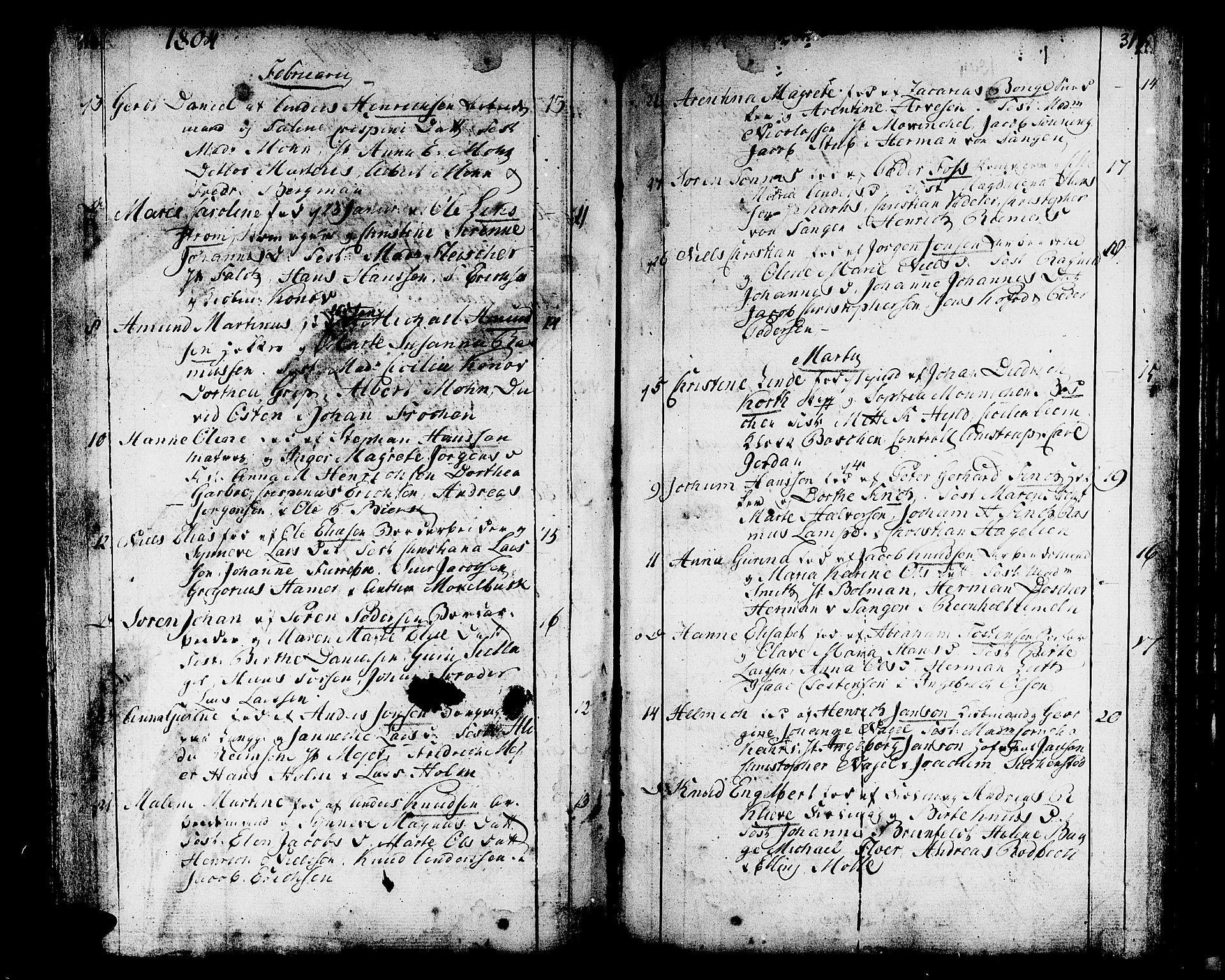 SAB, Domkirken sokneprestembete, H/Haa/L0004: Ministerialbok nr. A 4, 1763-1820, s. 316-317