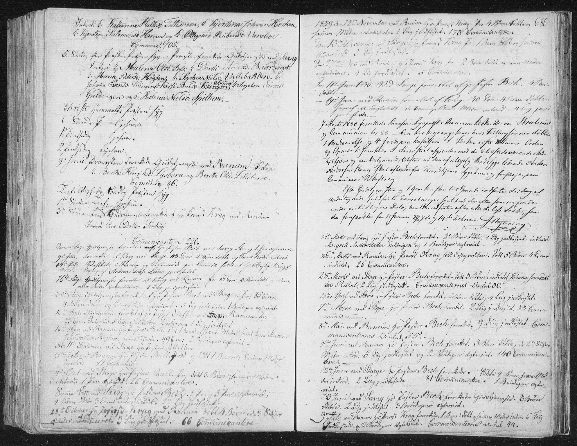 SAT, Ministerialprotokoller, klokkerbøker og fødselsregistre - Nord-Trøndelag, 764/L0552: Ministerialbok nr. 764A07b, 1824-1865, s. 680