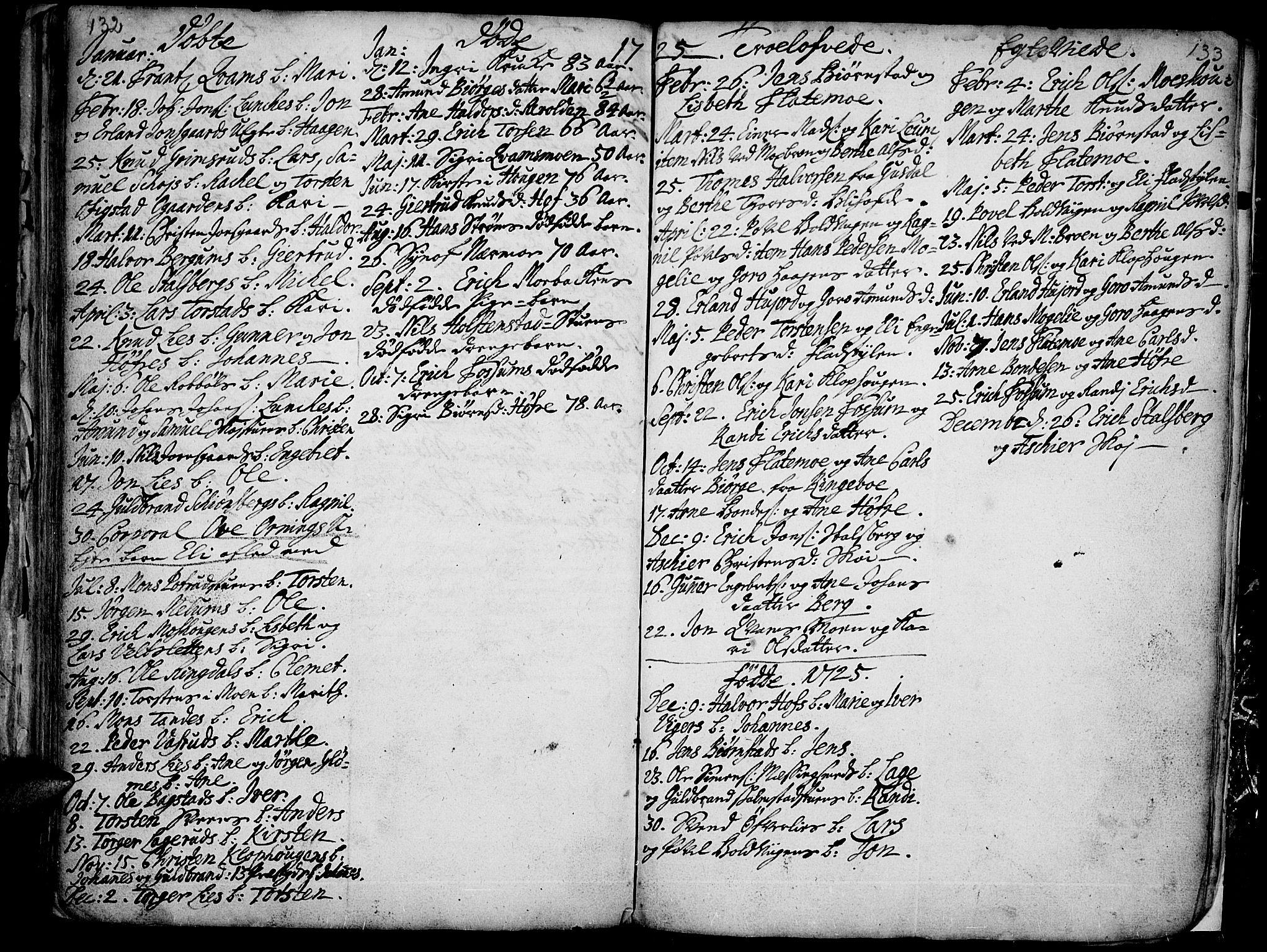 SAH, Øyer prestekontor, Ministerialbok nr. 1, 1671-1727, s. 132-133
