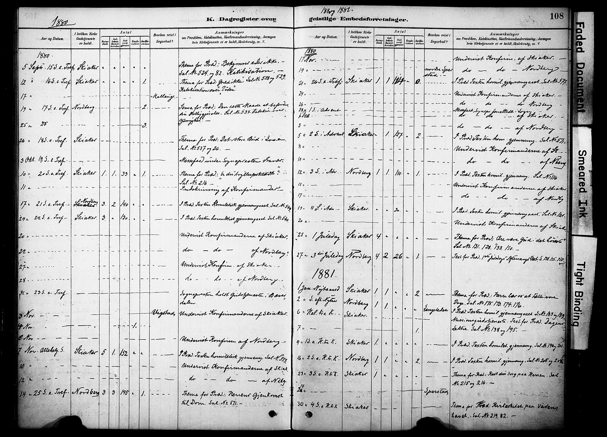 SAH, Skjåk prestekontor, Ministerialbok nr. 2, 1878-1907, s. 108