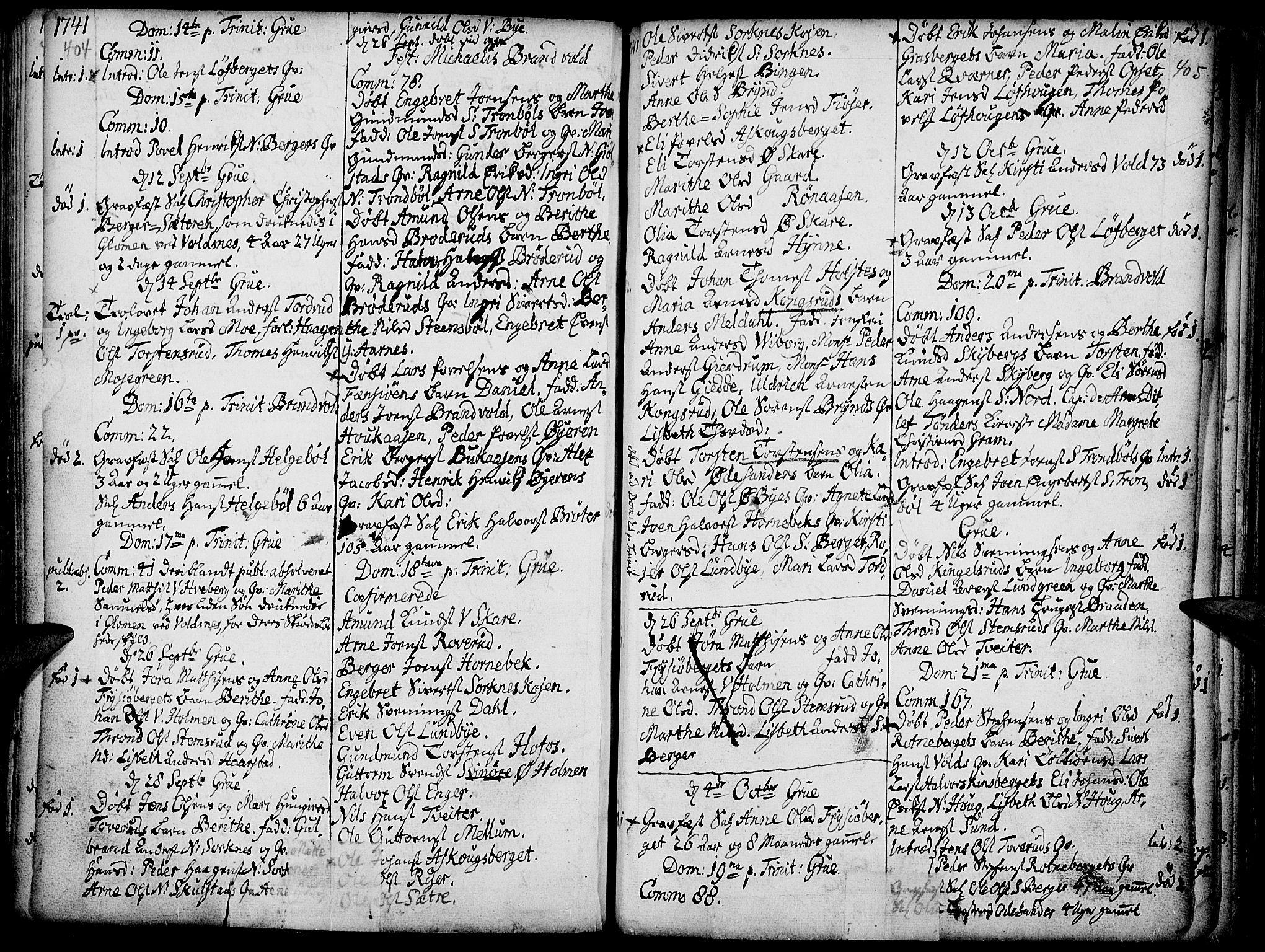 SAH, Grue prestekontor, Ministerialbok nr. 1, 1712-1748, s. 404-405