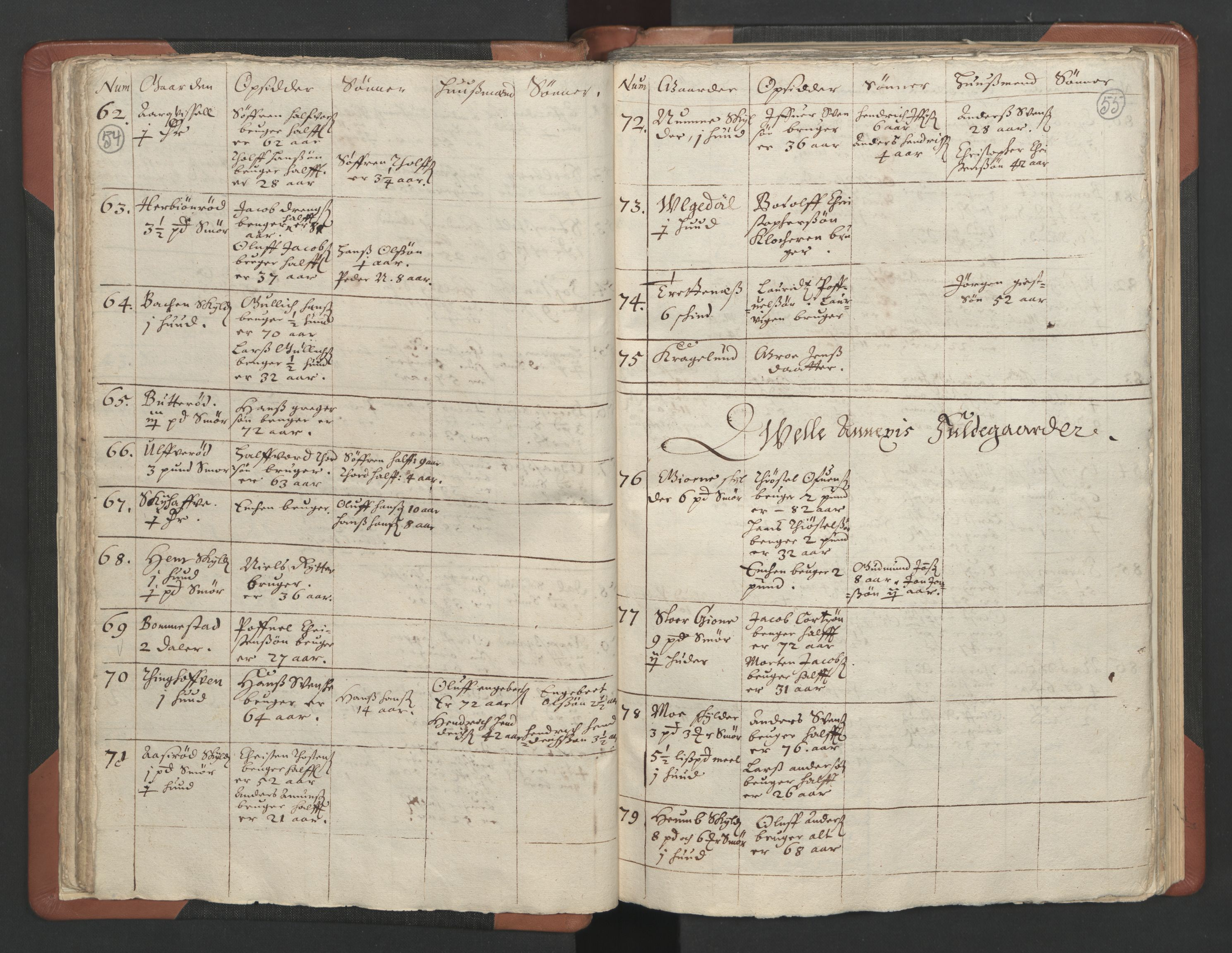 RA, Sogneprestenes manntall 1664-1666, nr. 11: Brunlanes prosti, 1664-1666, s. 54-55