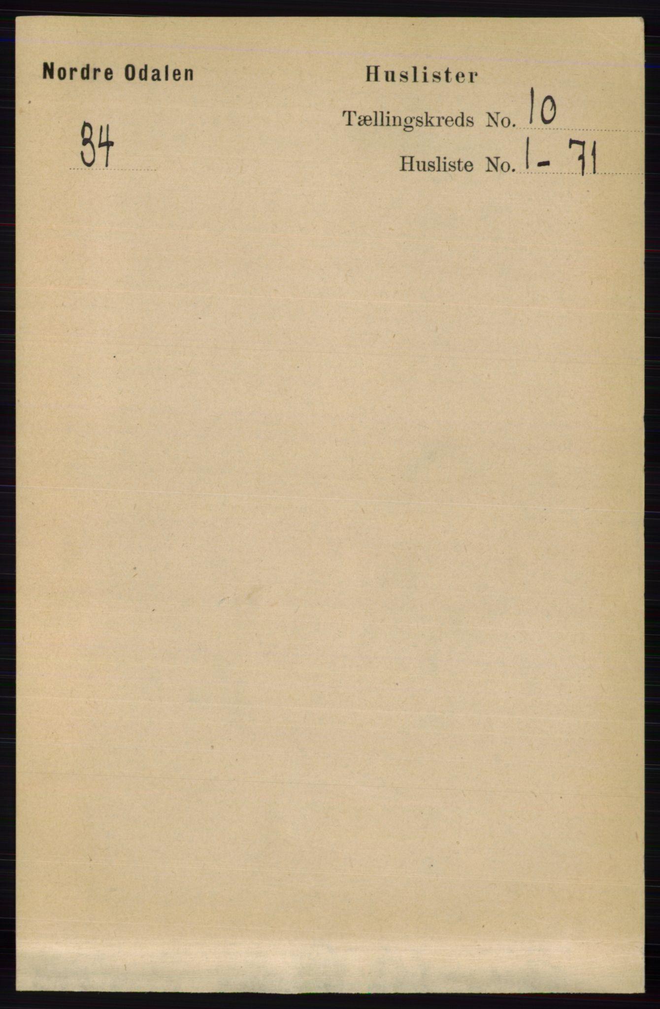 RA, Folketelling 1891 for 0418 Nord-Odal herred, 1891, s. 4435