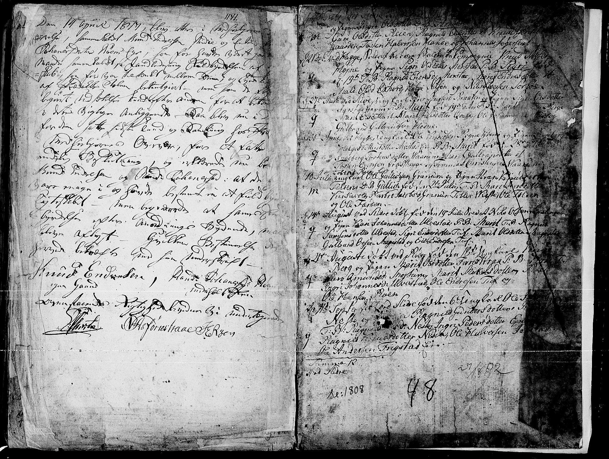 SAH, Slidre prestekontor, Ministerialbok nr. 1, 1724-1814, s. 1142-1143
