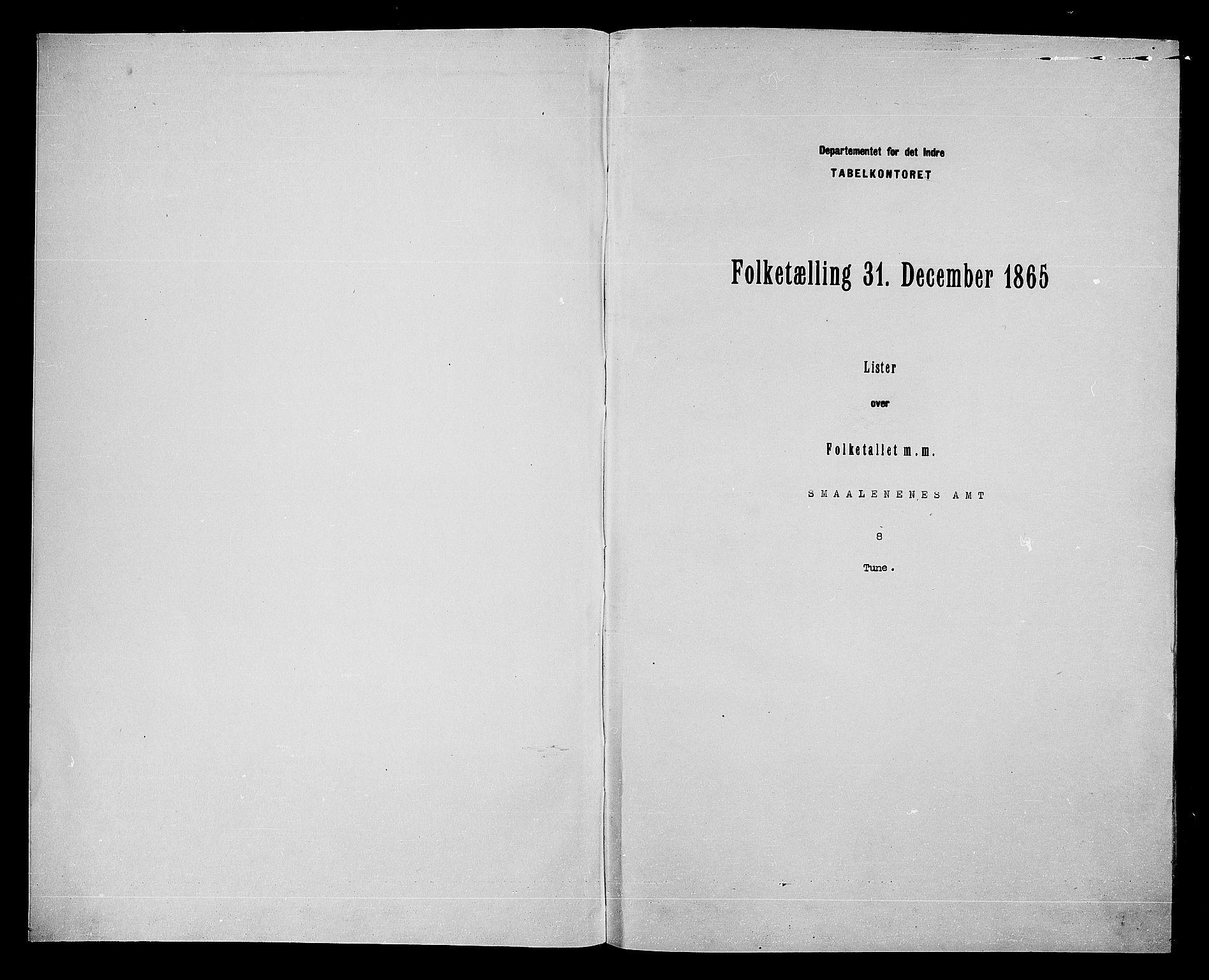 RA, Folketelling 1865 for 0130P Tune prestegjeld, 1865, s. 3