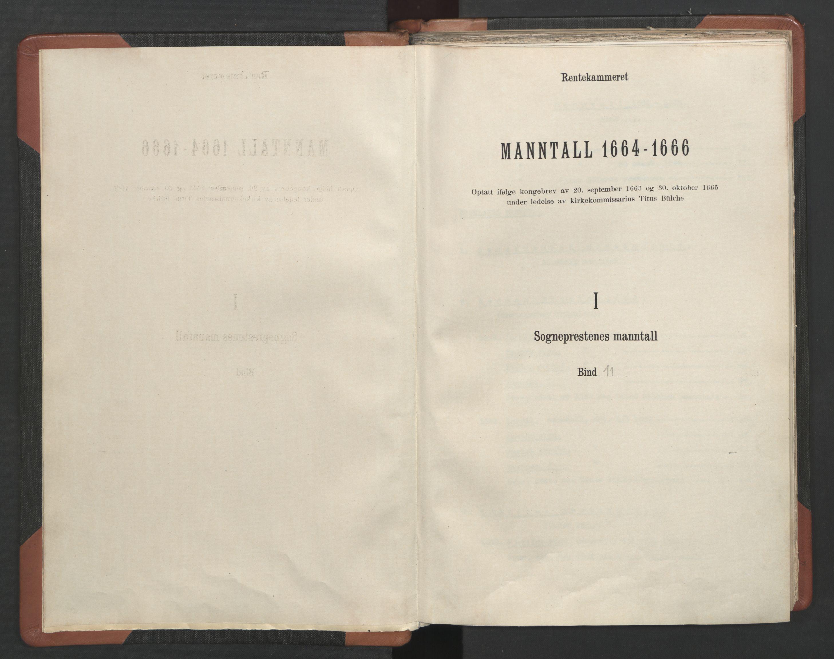 RA, Sogneprestenes manntall 1664-1666, nr. 11: Brunlanes prosti, 1664-1666, s. upaginert