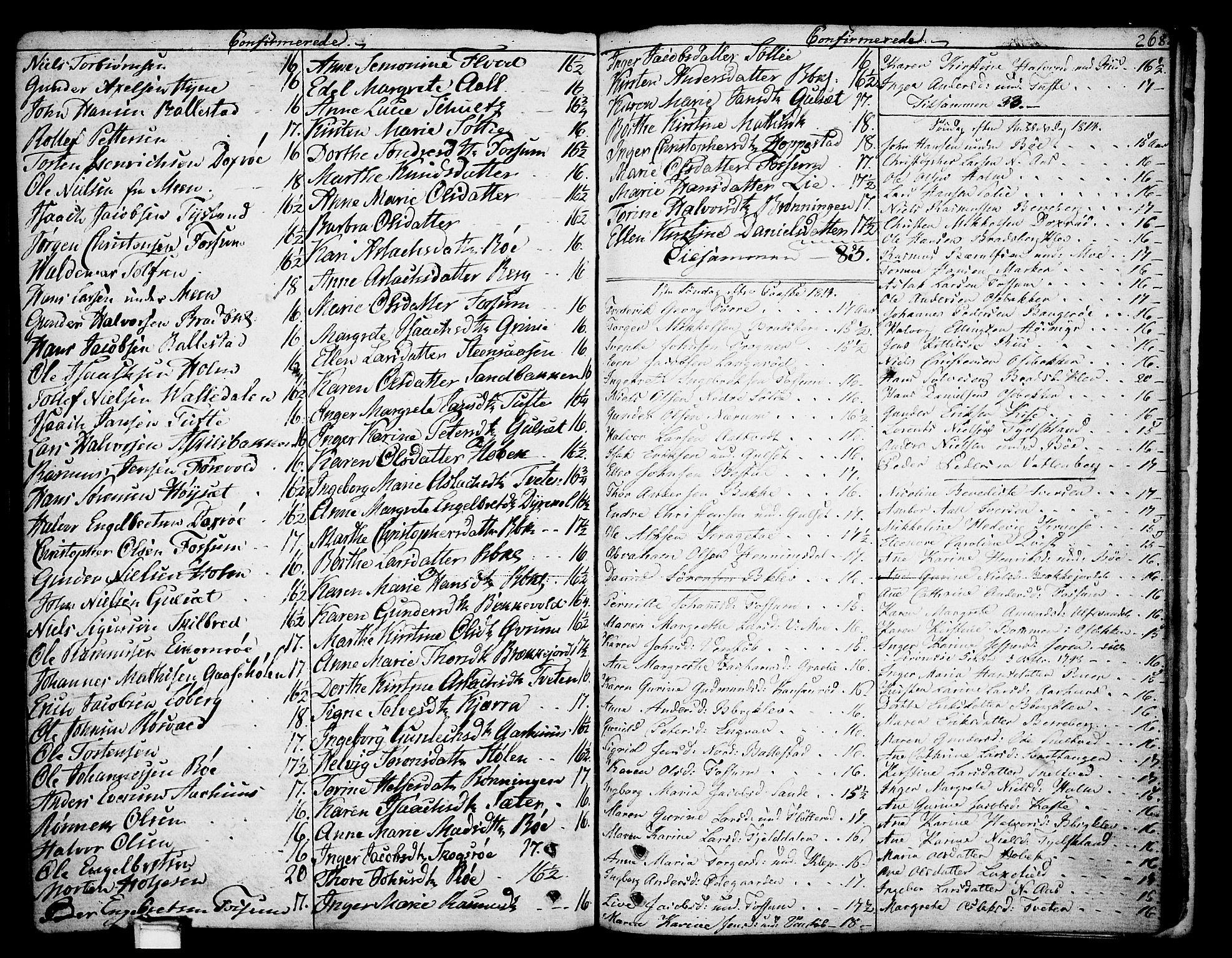 SAKO, Gjerpen kirkebøker, F/Fa/L0003: Ministerialbok nr. 3, 1796-1814, s. 268