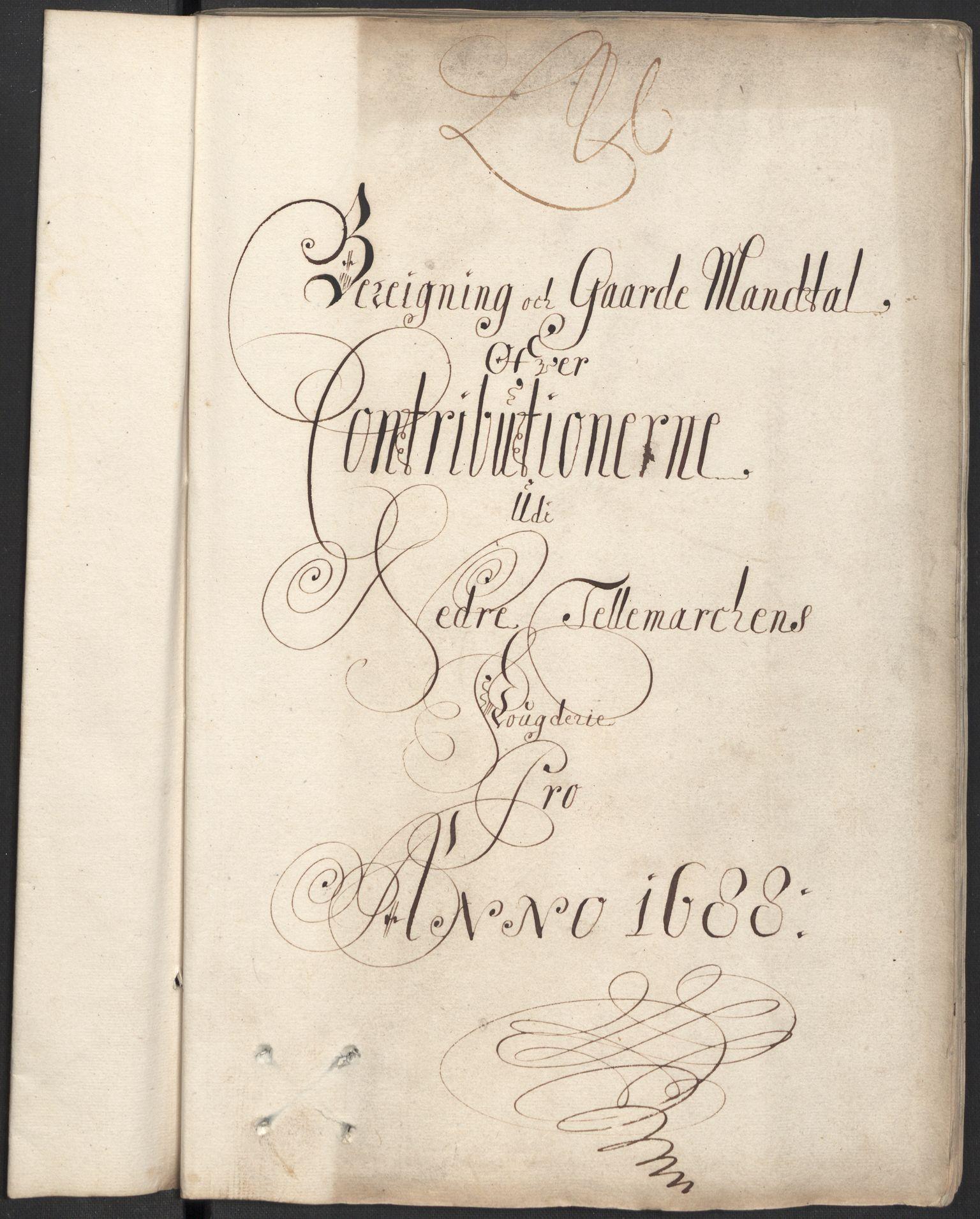 RA, Rentekammeret inntil 1814, Reviderte regnskaper, Fogderegnskap, R35/L2087: Fogderegnskap Øvre og Nedre Telemark, 1687-1689, s. 181