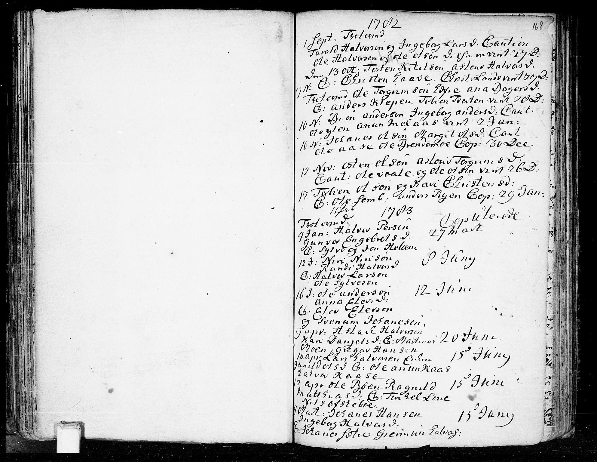 SAKO, Heddal kirkebøker, F/Fa/L0003: Ministerialbok nr. I 3, 1723-1783, s. 168