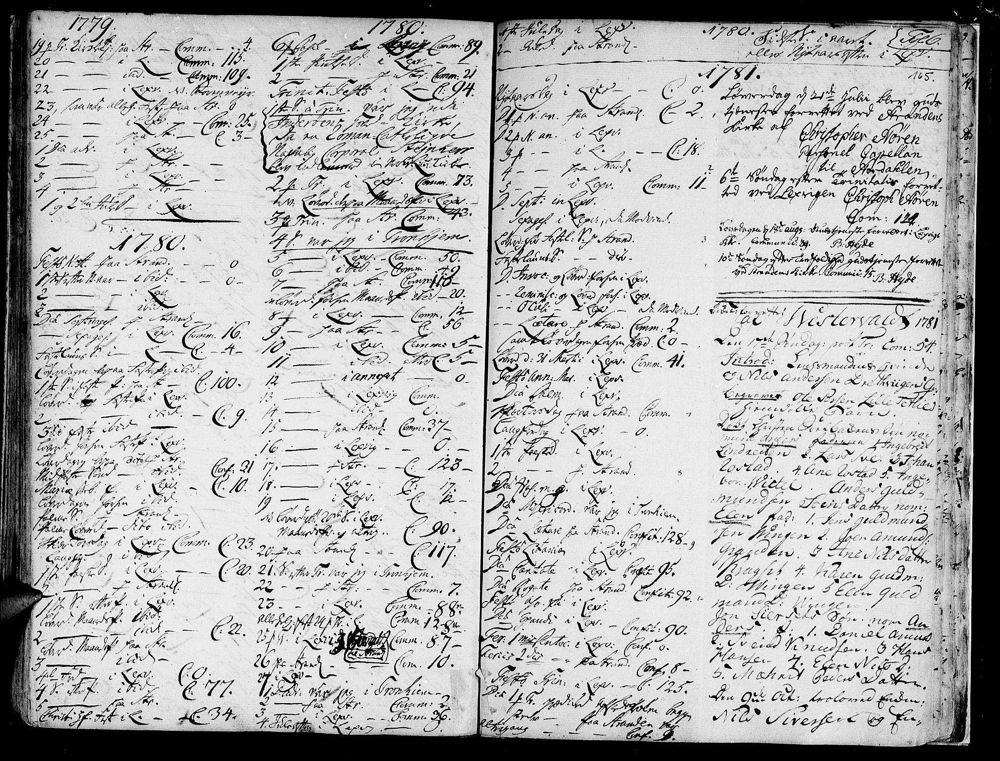SAT, Ministerialprotokoller, klokkerbøker og fødselsregistre - Nord-Trøndelag, 701/L0003: Ministerialbok nr. 701A03, 1751-1783, s. 165