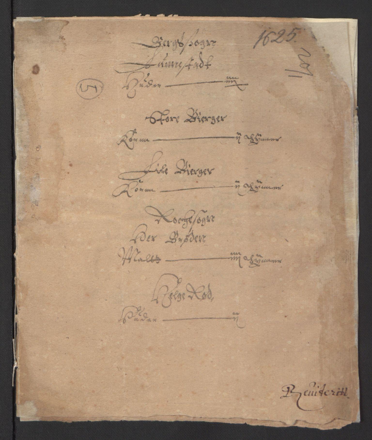 RA, Stattholderembetet 1572-1771, Ek/L0007: Jordebøker til utlikning av rosstjeneste 1624-1626:, 1624-1625, s. 443