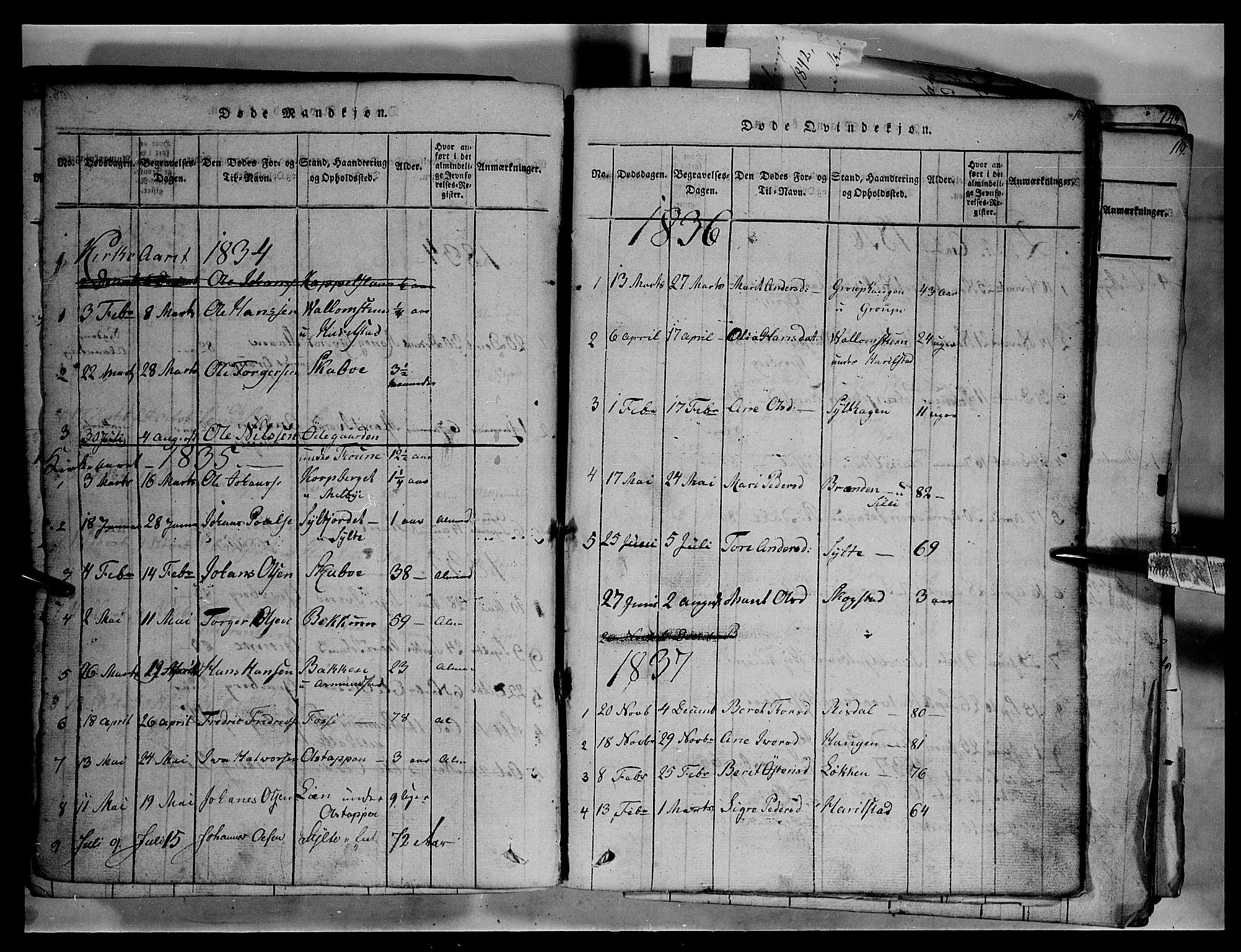 SAH, Fron prestekontor, H/Ha/Hab/L0003: Klokkerbok nr. 3, 1816-1850, s. 109