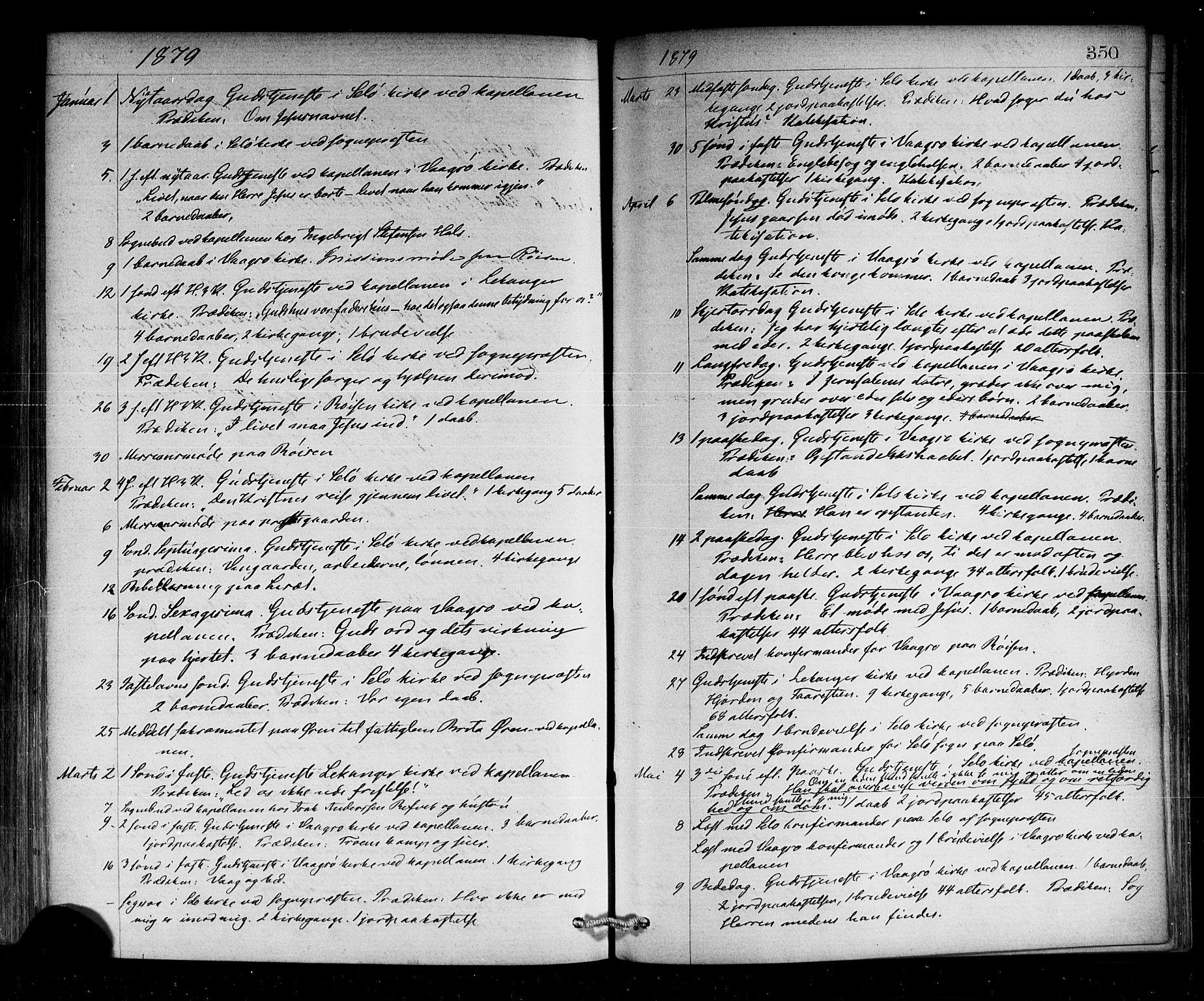 SAB, Selje sokneprestembete*, Ministerialbok nr. A 12, 1870-1880, s. 350