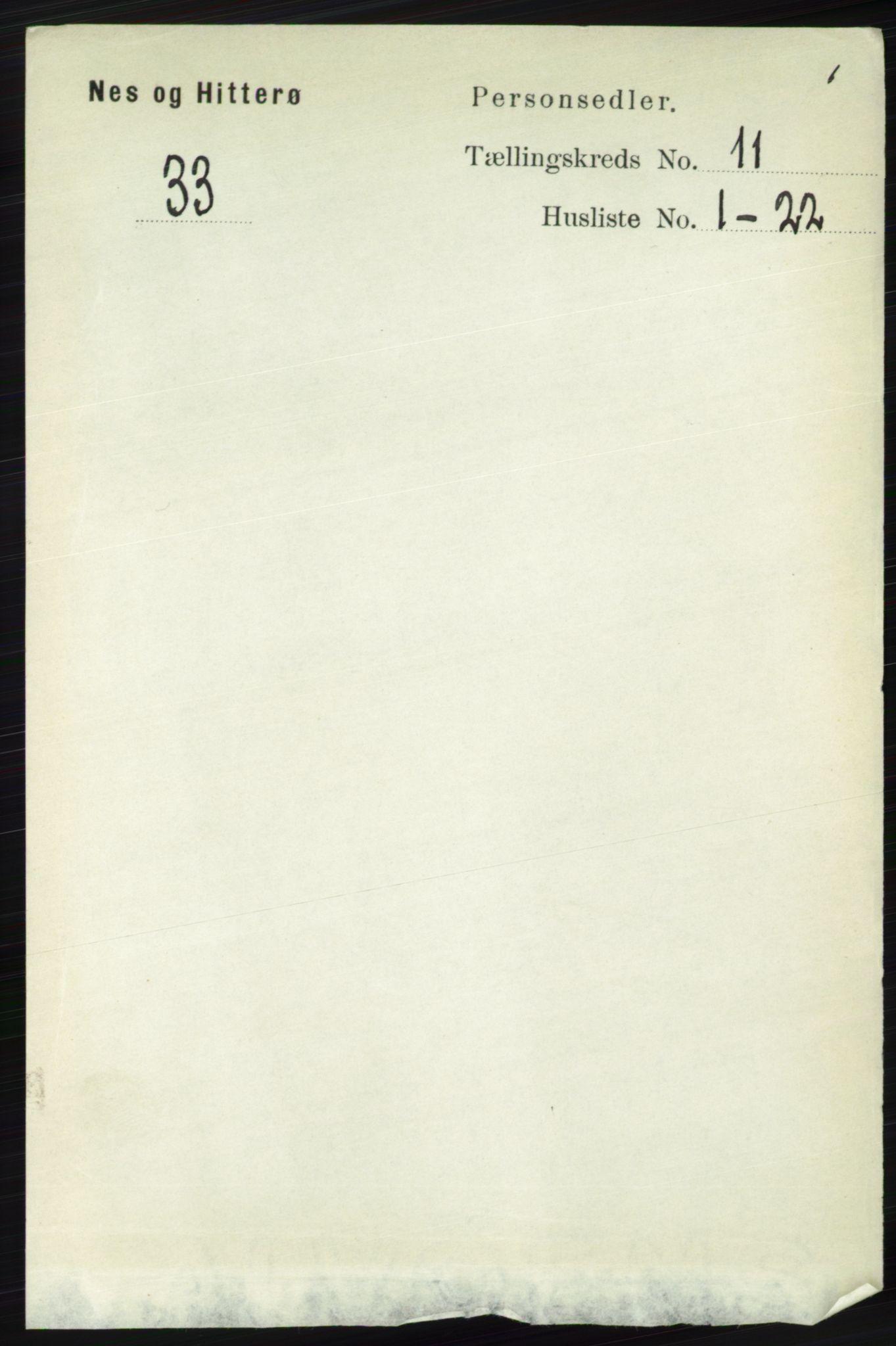 RA, Folketelling 1891 for 1043 Hidra og Nes herred, 1891, s. 4458