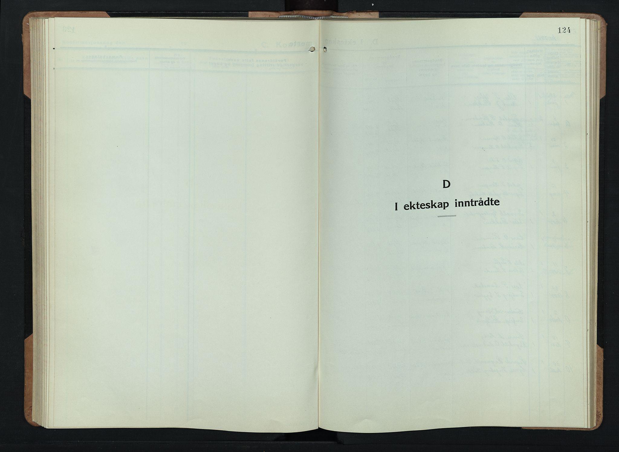 SAH, Skjåk prestekontor, Klokkerbok nr. 6, 1933-1954, s. 124