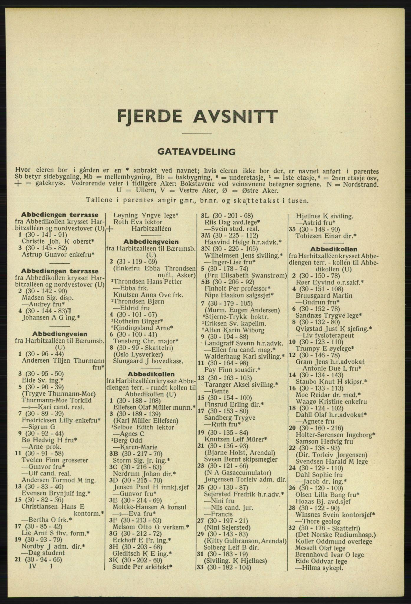 PUBL, Kristiania/Oslo adressebok, 1961-1962, s. 2301