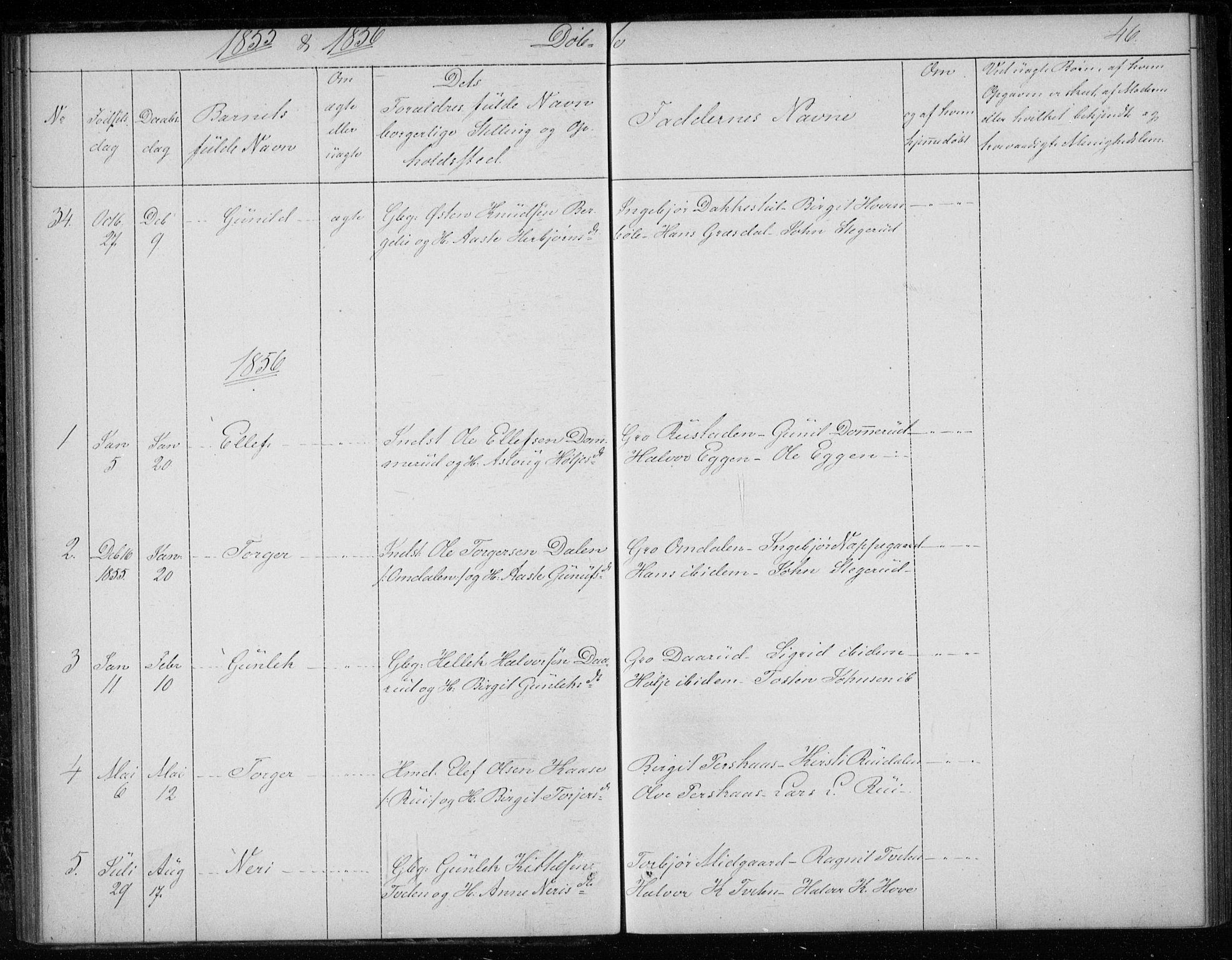 SAKO, Gransherad kirkebøker, F/Fb/L0003: Ministerialbok nr. II 3, 1844-1859, s. 46