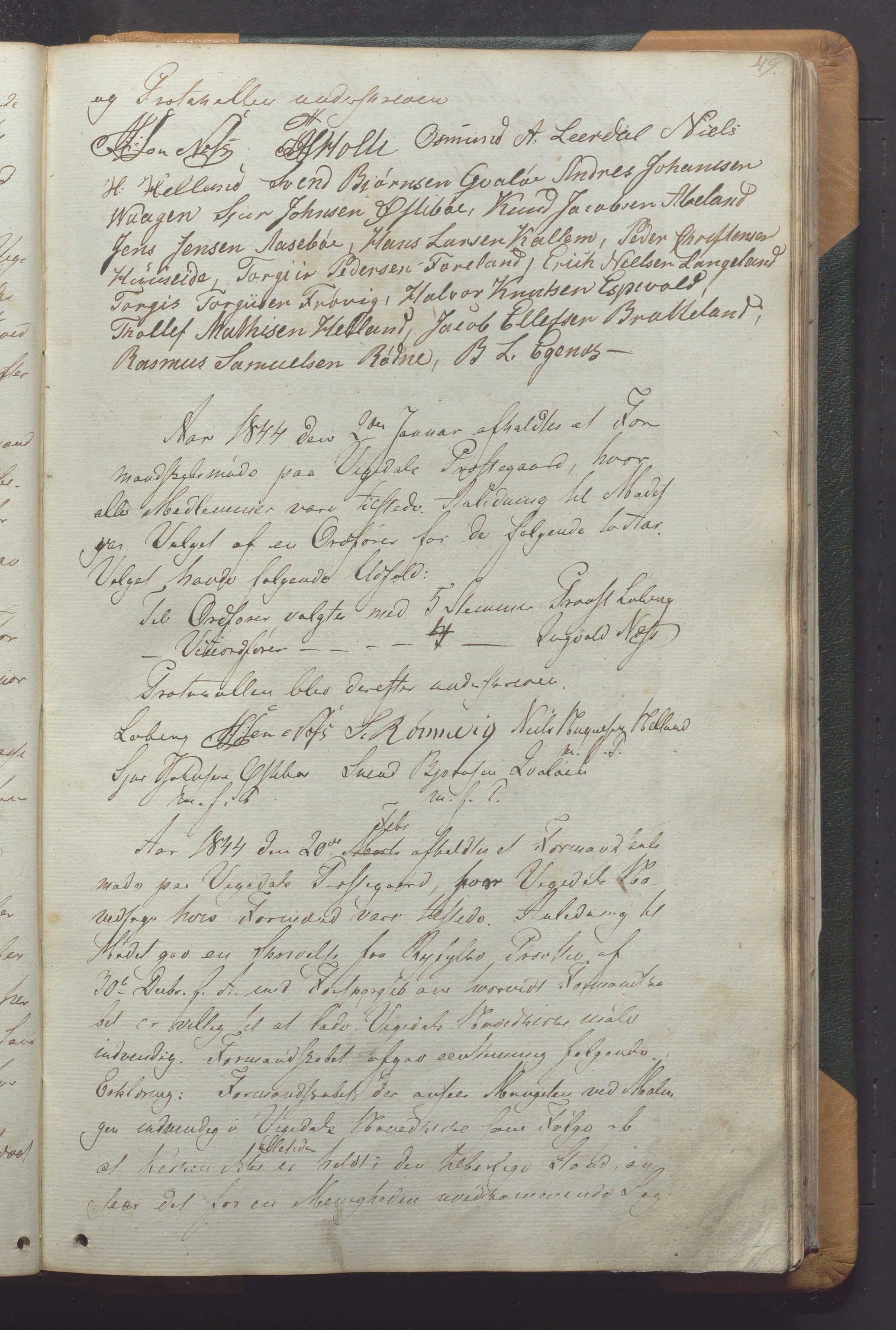 IKAR, Vikedal kommune - Formannskapet, Aaa/L0001: Møtebok, 1837-1874, s. 49a