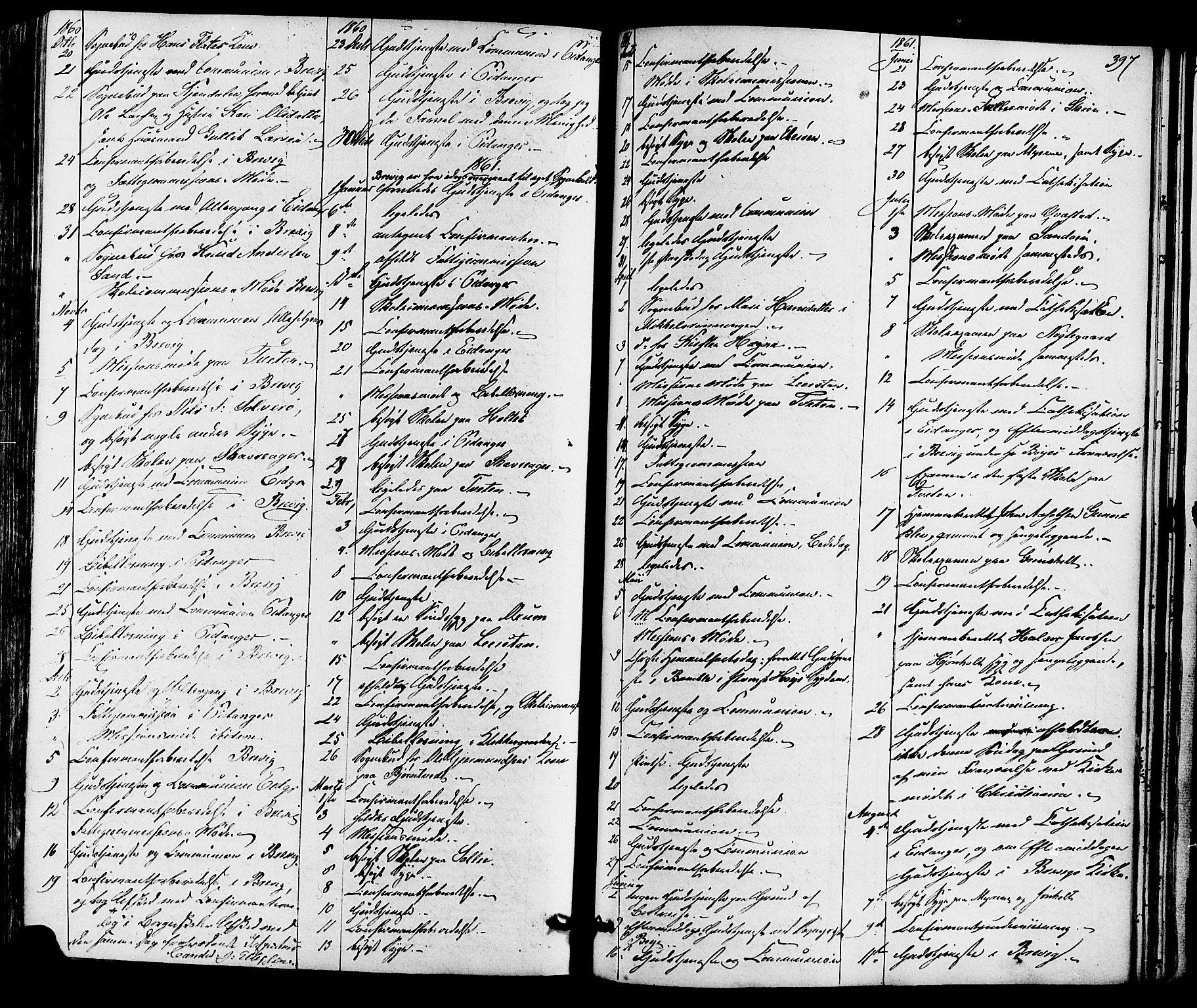 SAKO, Eidanger kirkebøker, F/Fa/L0010: Ministerialbok nr. 10, 1859-1874, s. 397