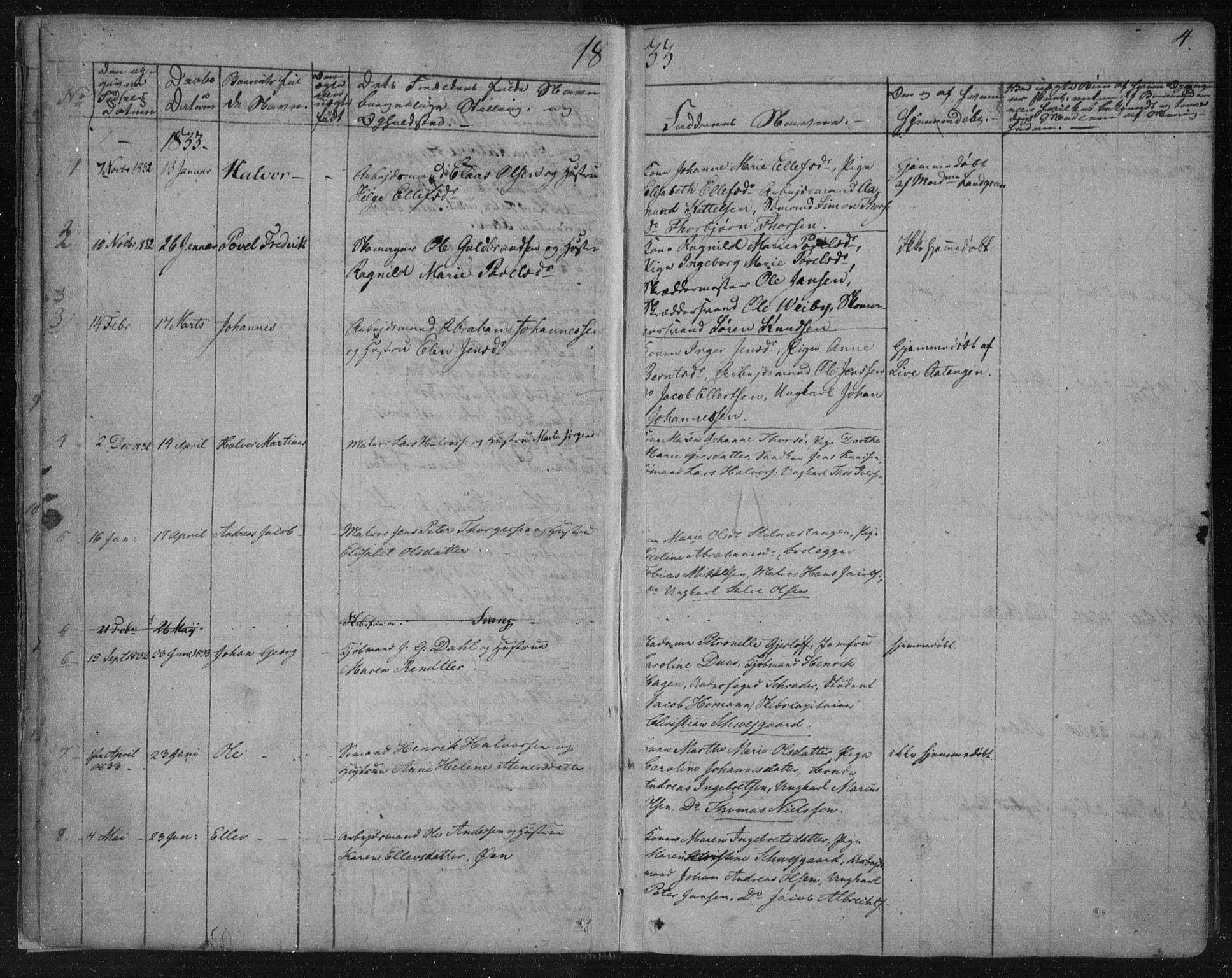 SAKO, Kragerø kirkebøker, F/Fa/L0005: Ministerialbok nr. 5, 1832-1847, s. 4