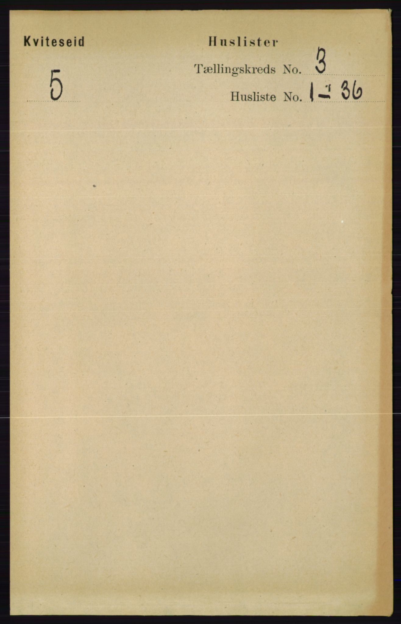 RA, Folketelling 1891 for 0829 Kviteseid herred, 1891, s. 462